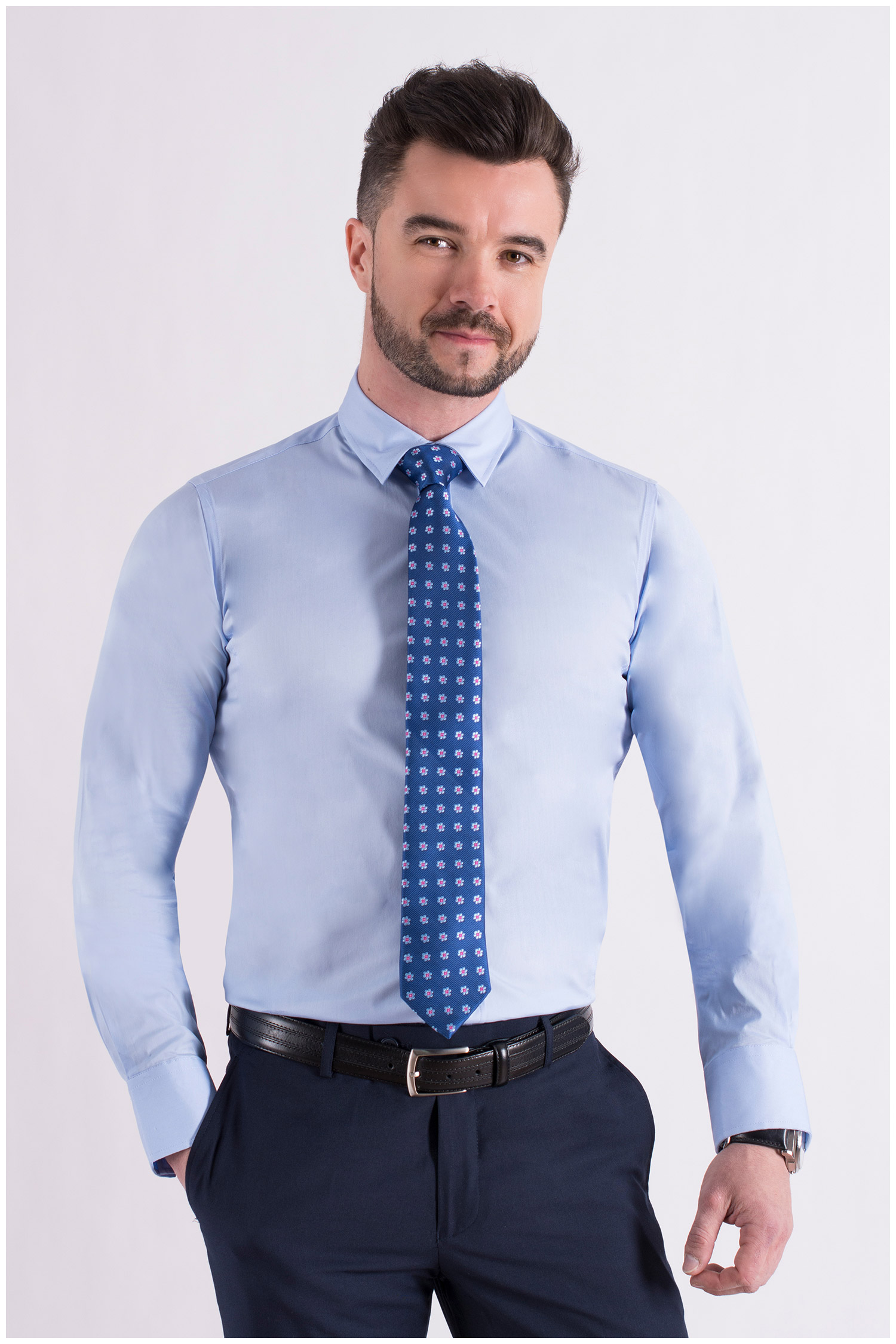 Camisas, Vestir Manga Larga, 106939, CELESTE | Zoom