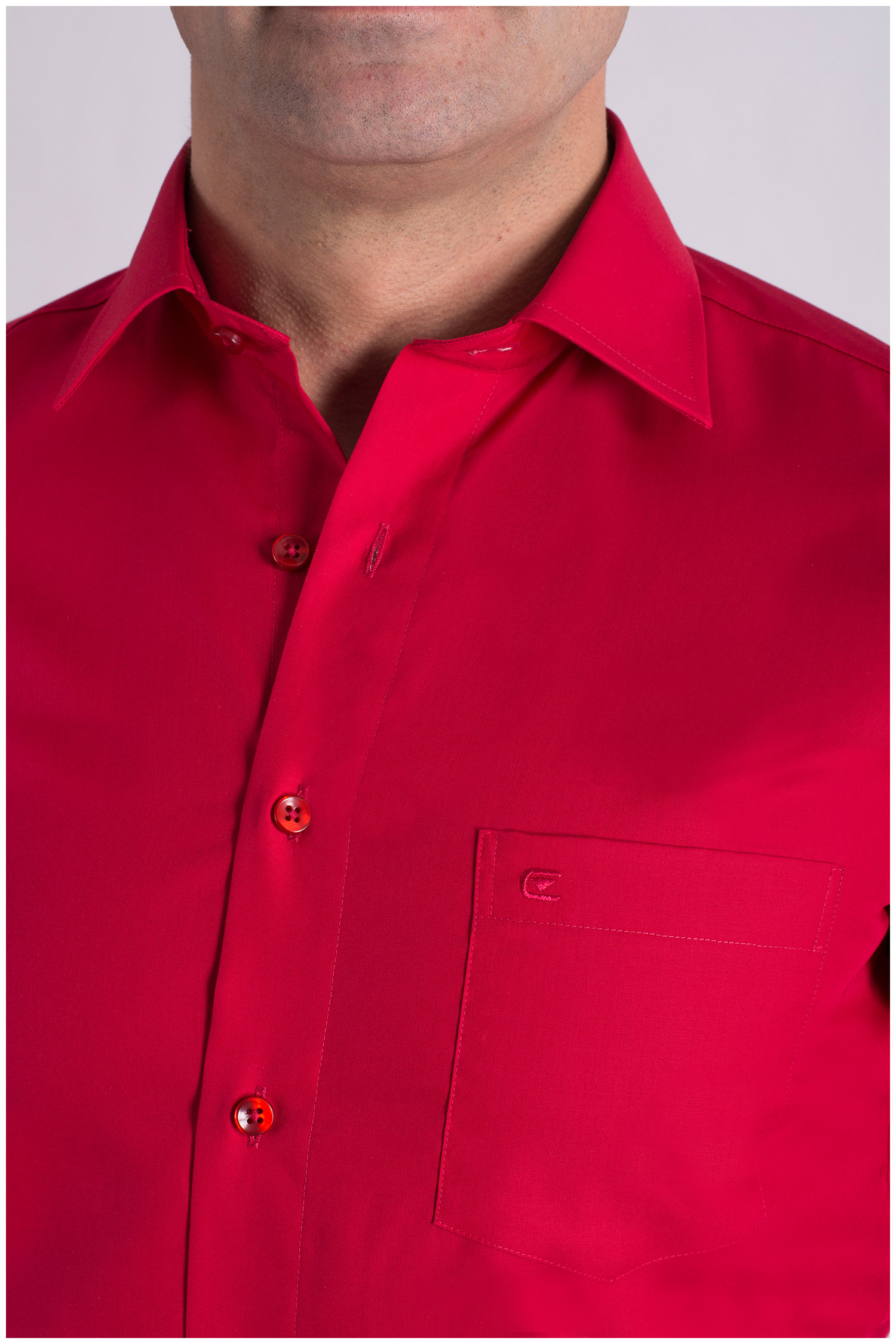 Camisas, Vestir Manga Larga, 106940, ROJO | Zoom