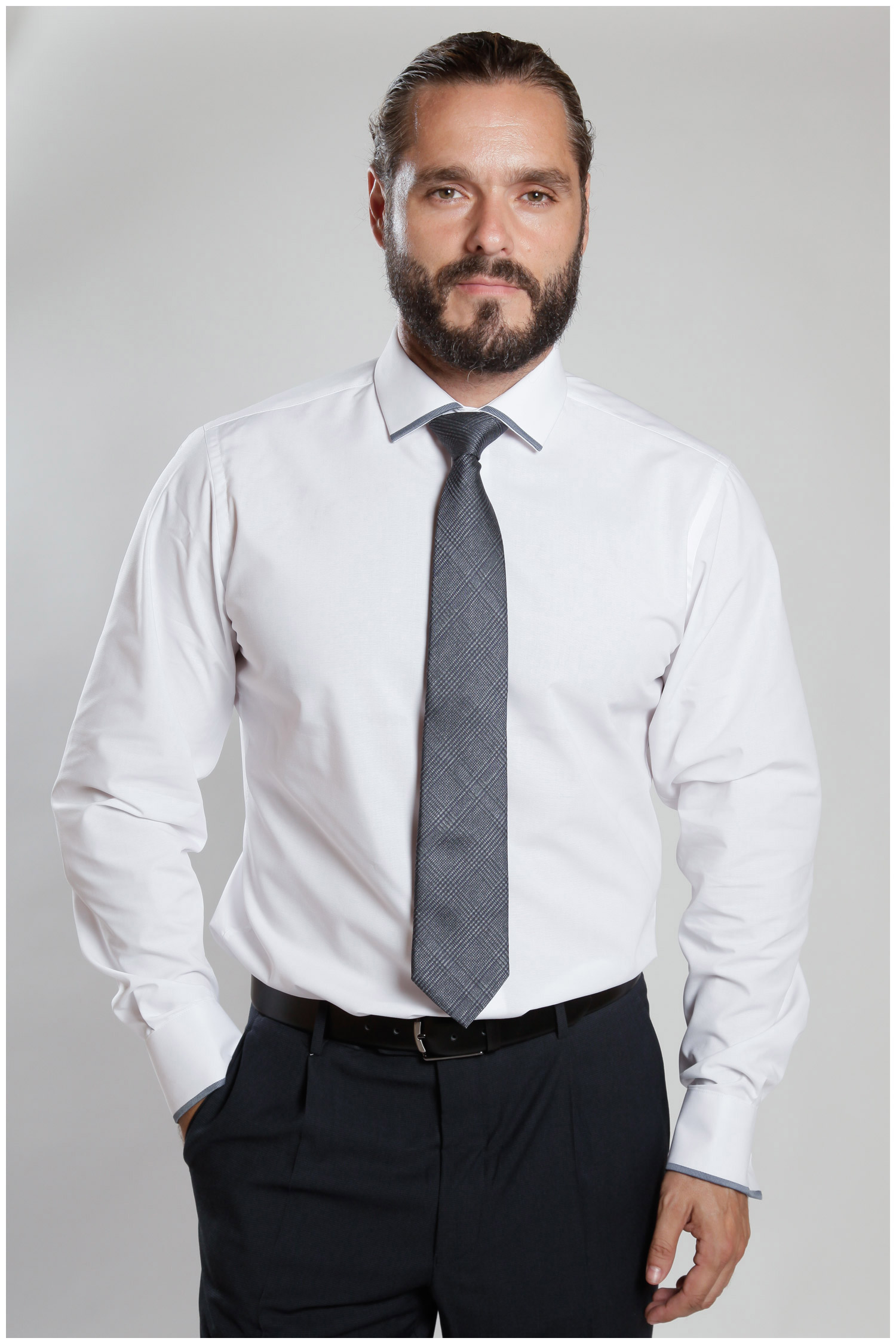 Camisas, Vestir Manga Larga, 107089, BLANCO | Zoom