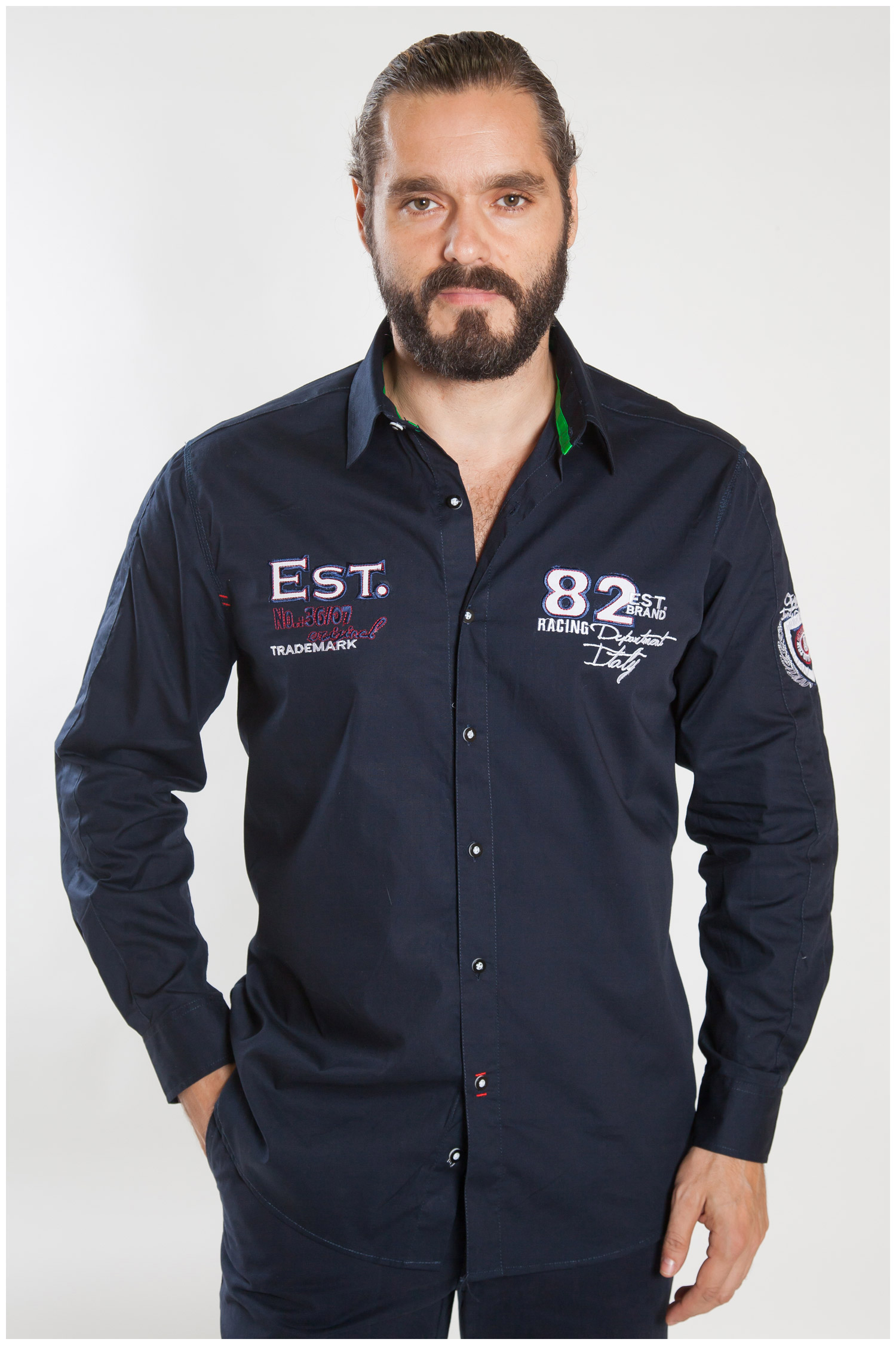 Camisas, Sport Manga Larga, 107102, MARINO | Zoom