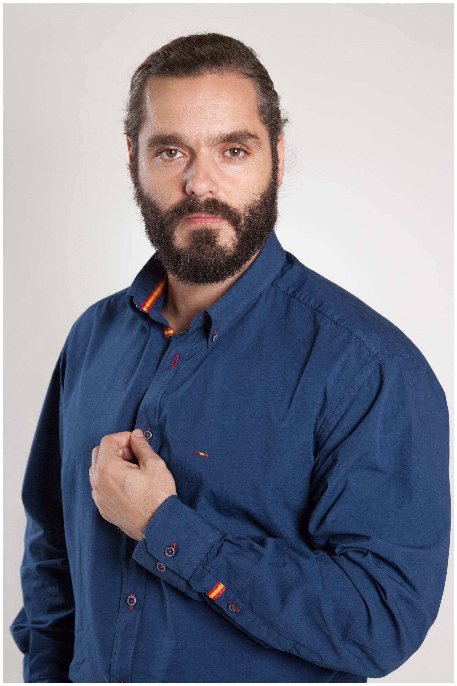Camisas, Sport Manga Larga, 107154, MARINO | Zoom