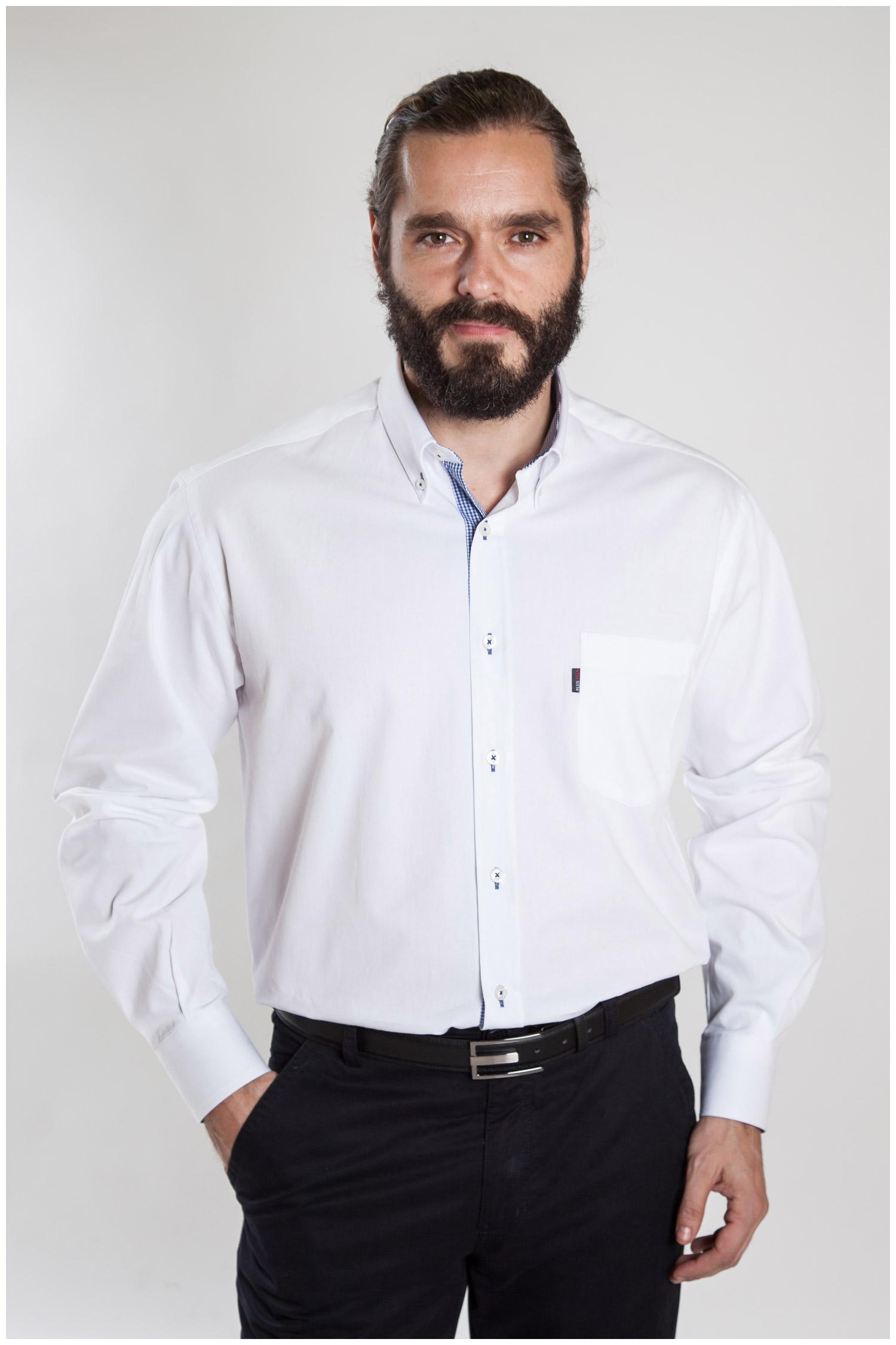 Camisas, Sport Manga Larga, 107186, BLANCO   Zoom