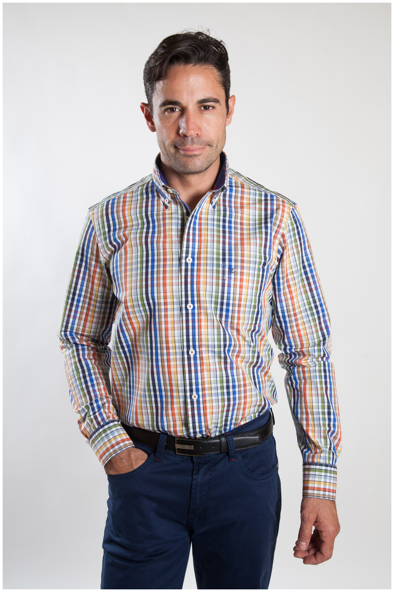 Camisas, Sport Manga Larga, 107244, MARINO   Zoom