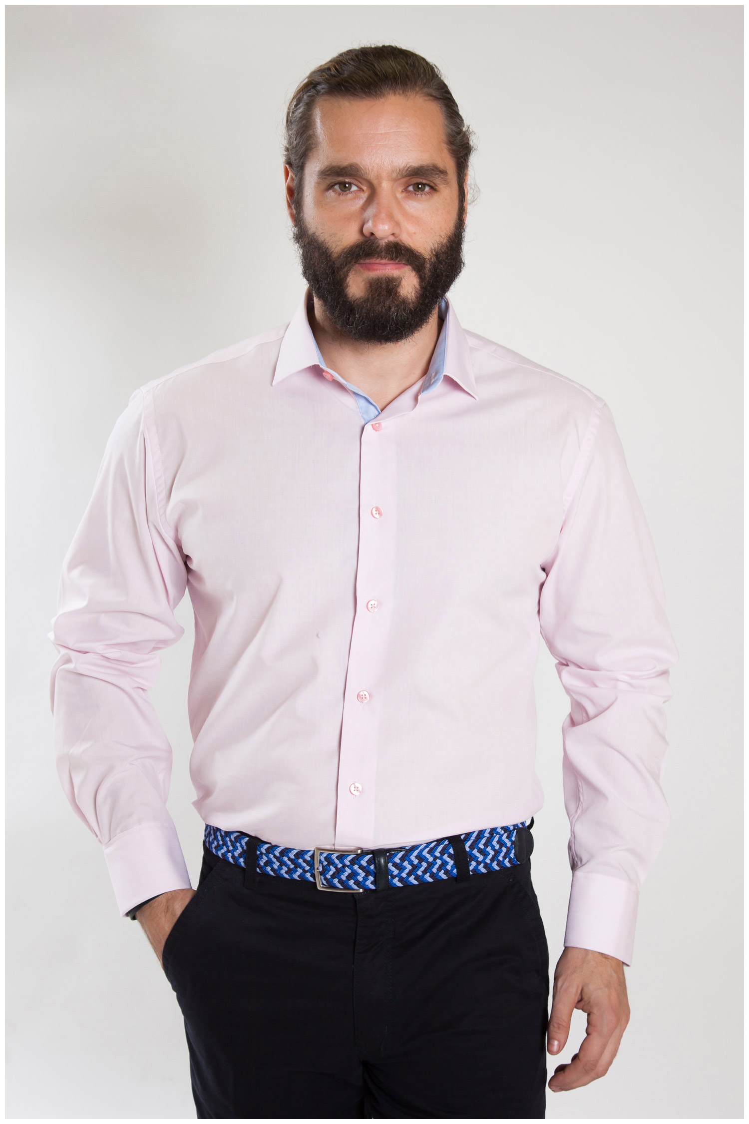 Camisas, Vestir Manga Larga, 107324, ROSA | Zoom