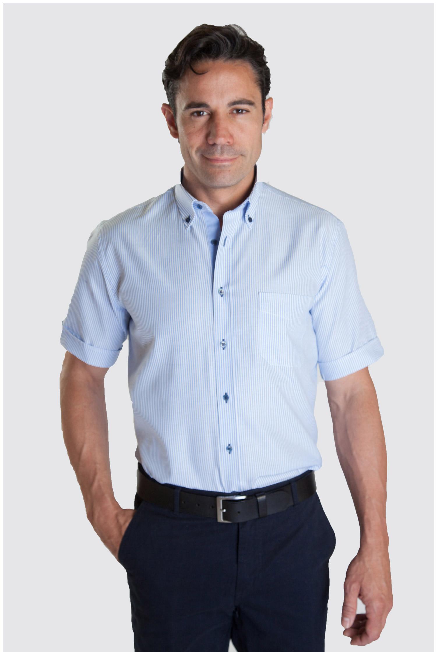 Camisas, Sport Manga Corta, 107326, CELESTE   Zoom