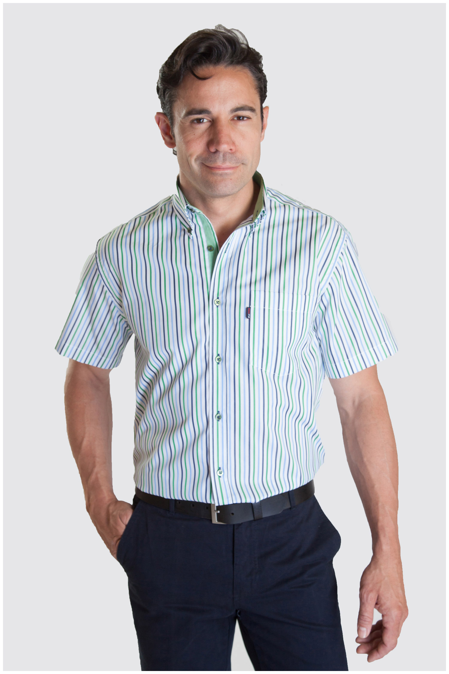 Camisas, Sport Manga Corta, 107334, VERDE | Zoom