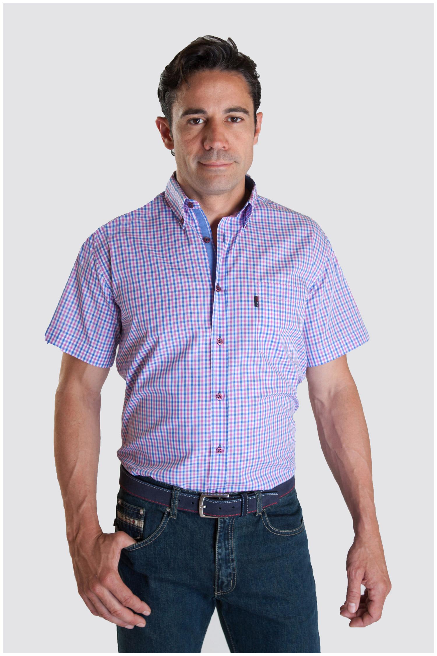 Camisas, Sport Manga Corta, 107336, FUCSIA | Zoom