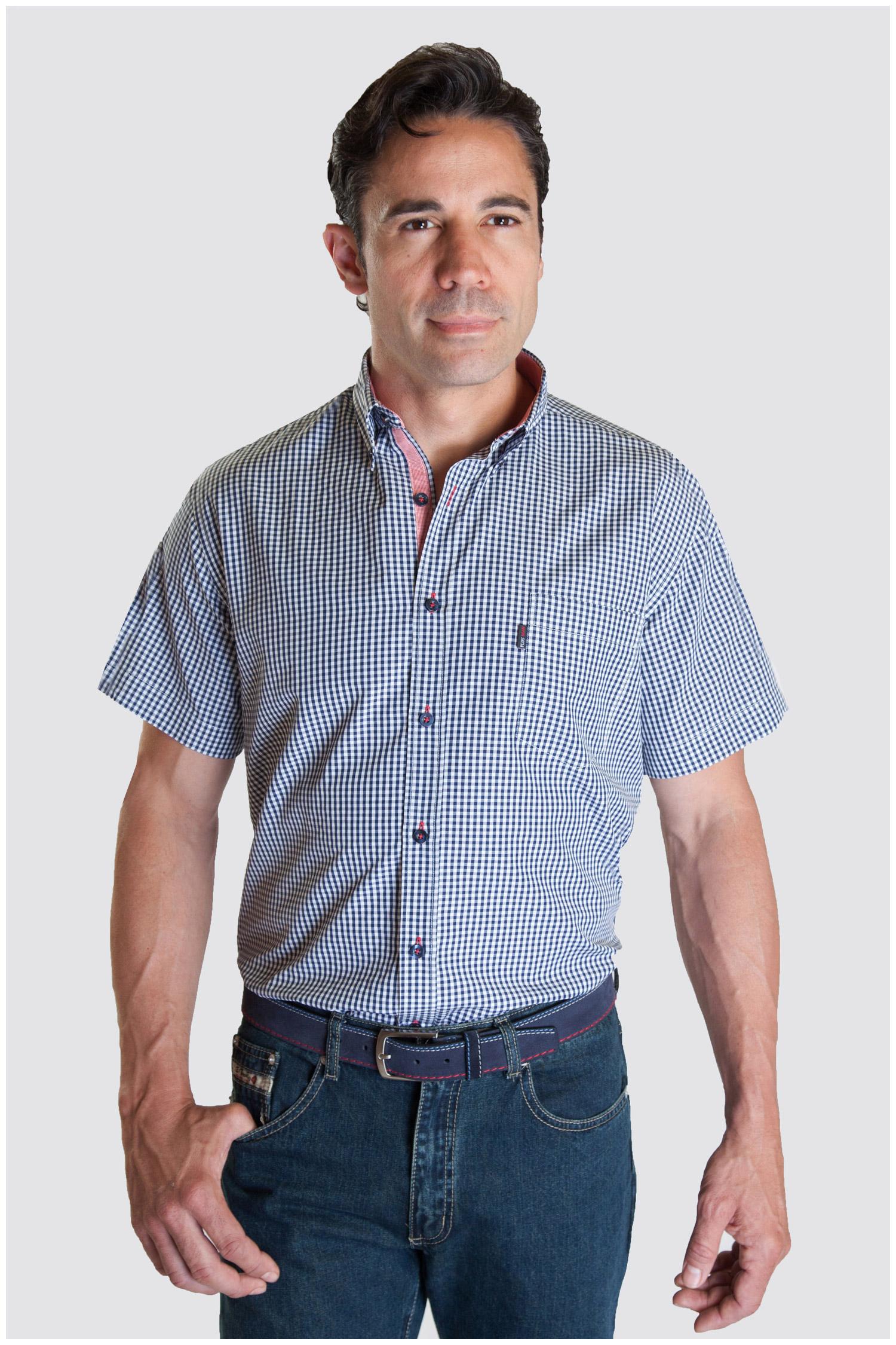 Camisas, Sport Manga Corta, 107337, MARINO | Zoom
