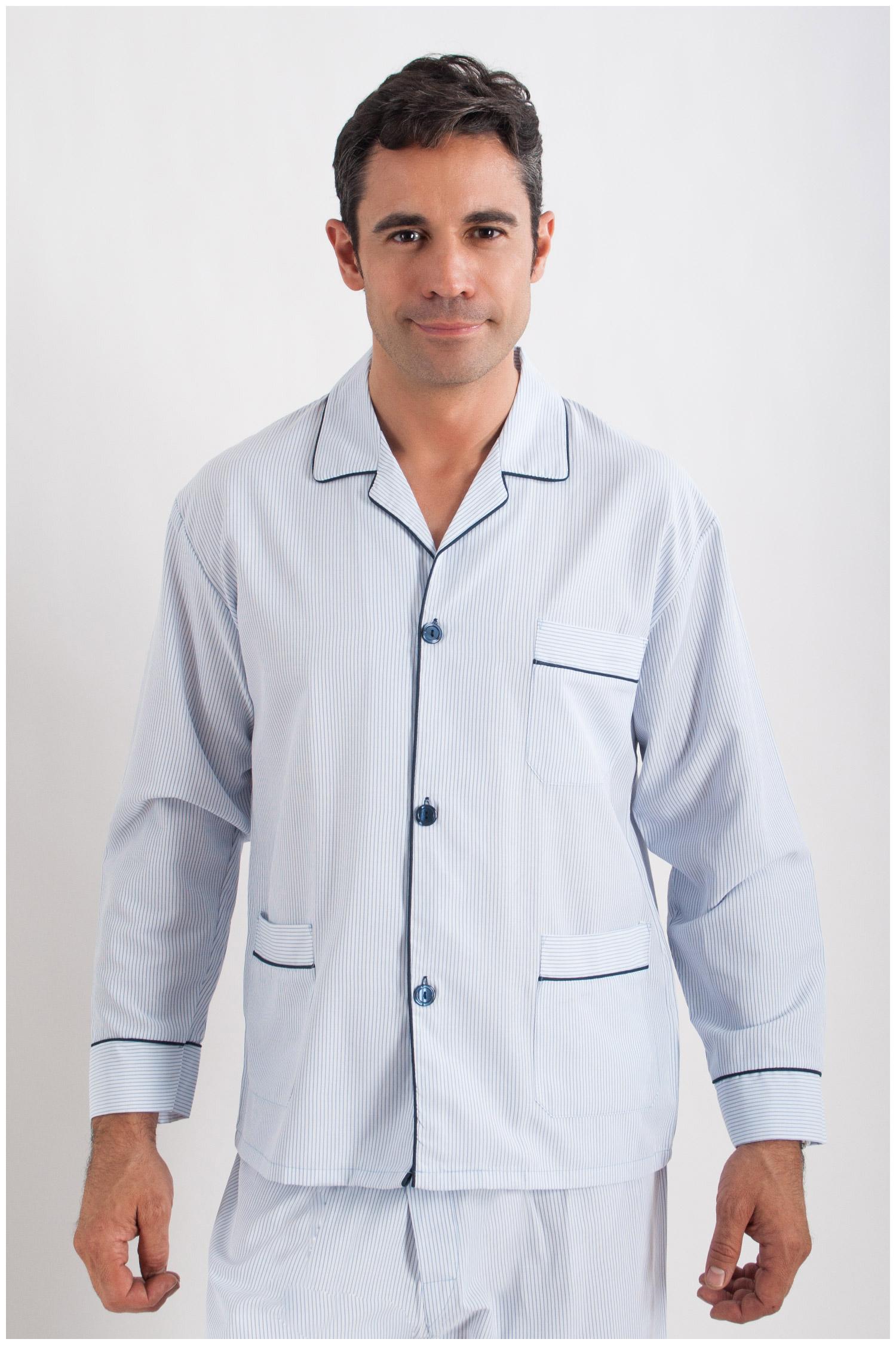 Homewear, Pijama M. Larga, 107612, CELESTE   Zoom