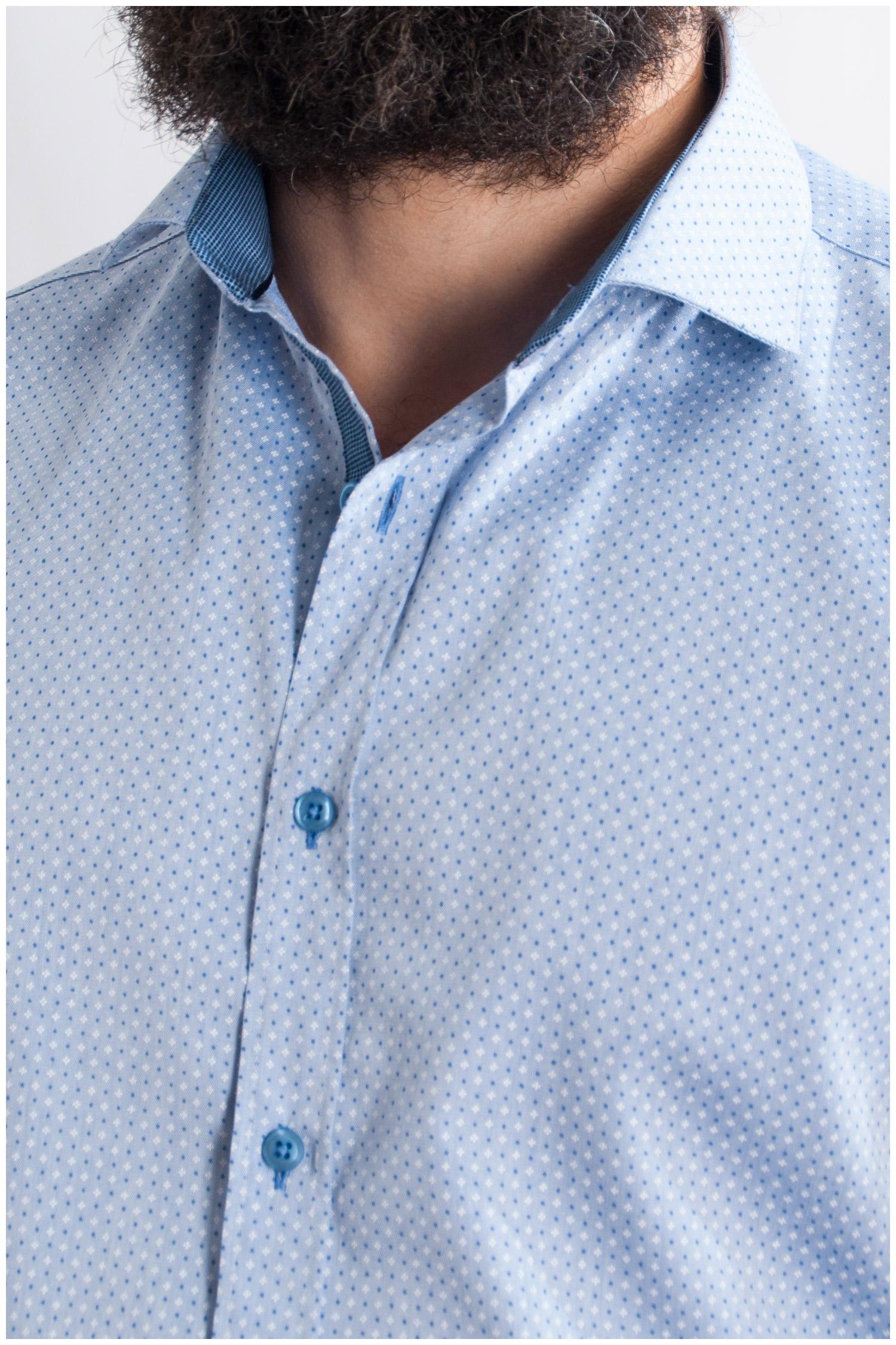 Camisas, Vestir Manga Larga, 107743, CELESTE | Zoom