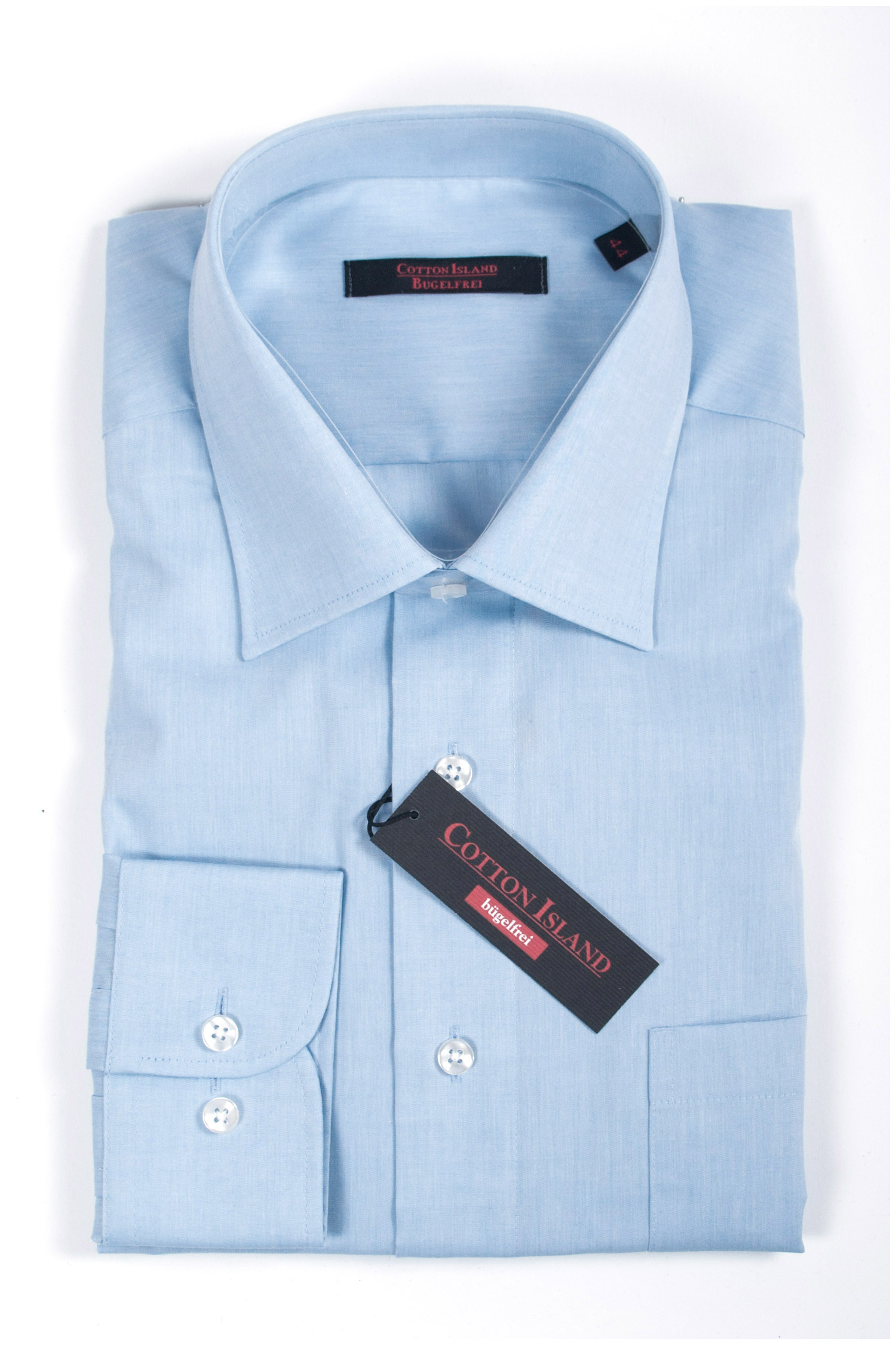 Camisas, Vestir Manga Larga, 107787, CELESTE | Zoom