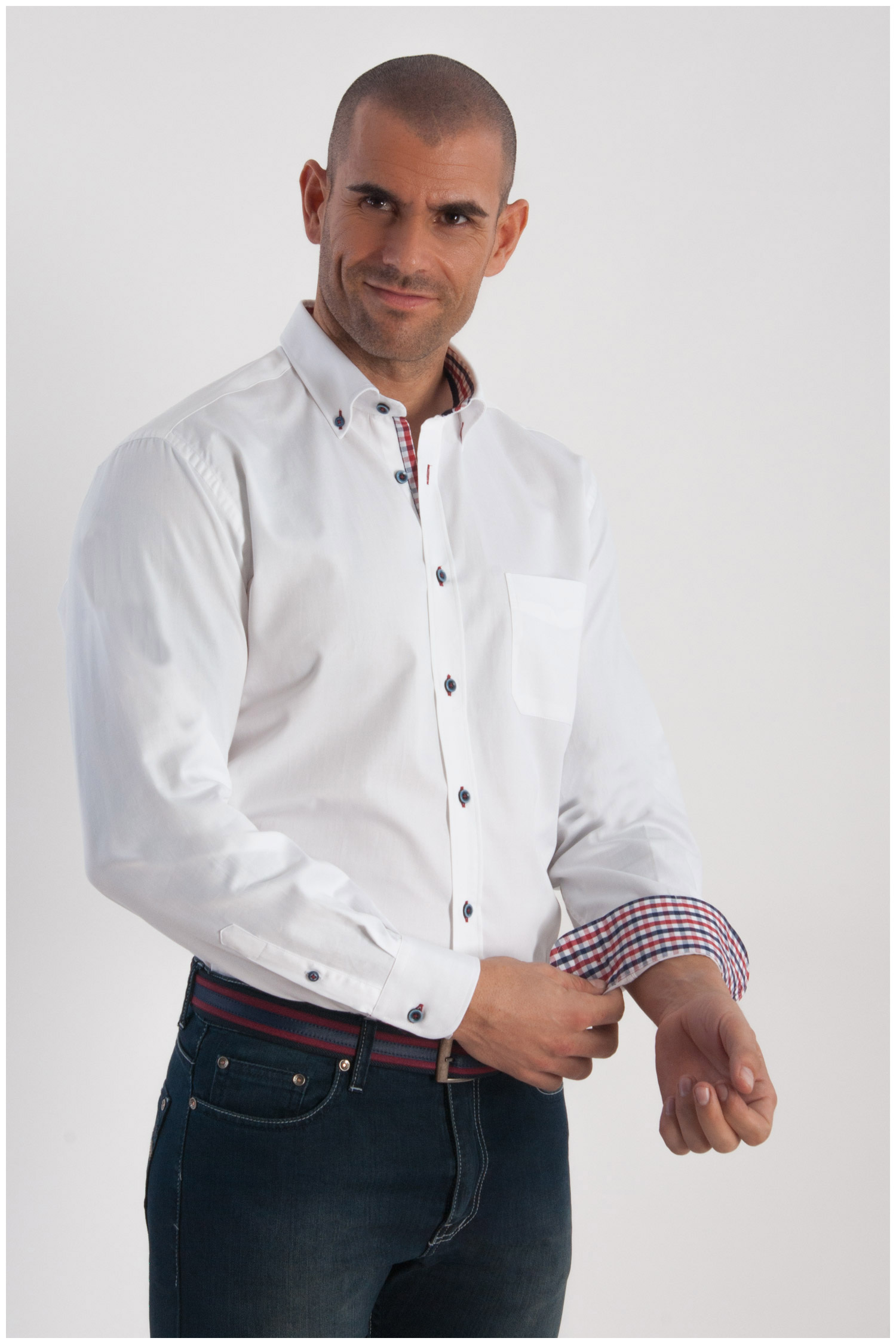 Camisas, Sport Manga Larga, 107793, BLANCO | Zoom