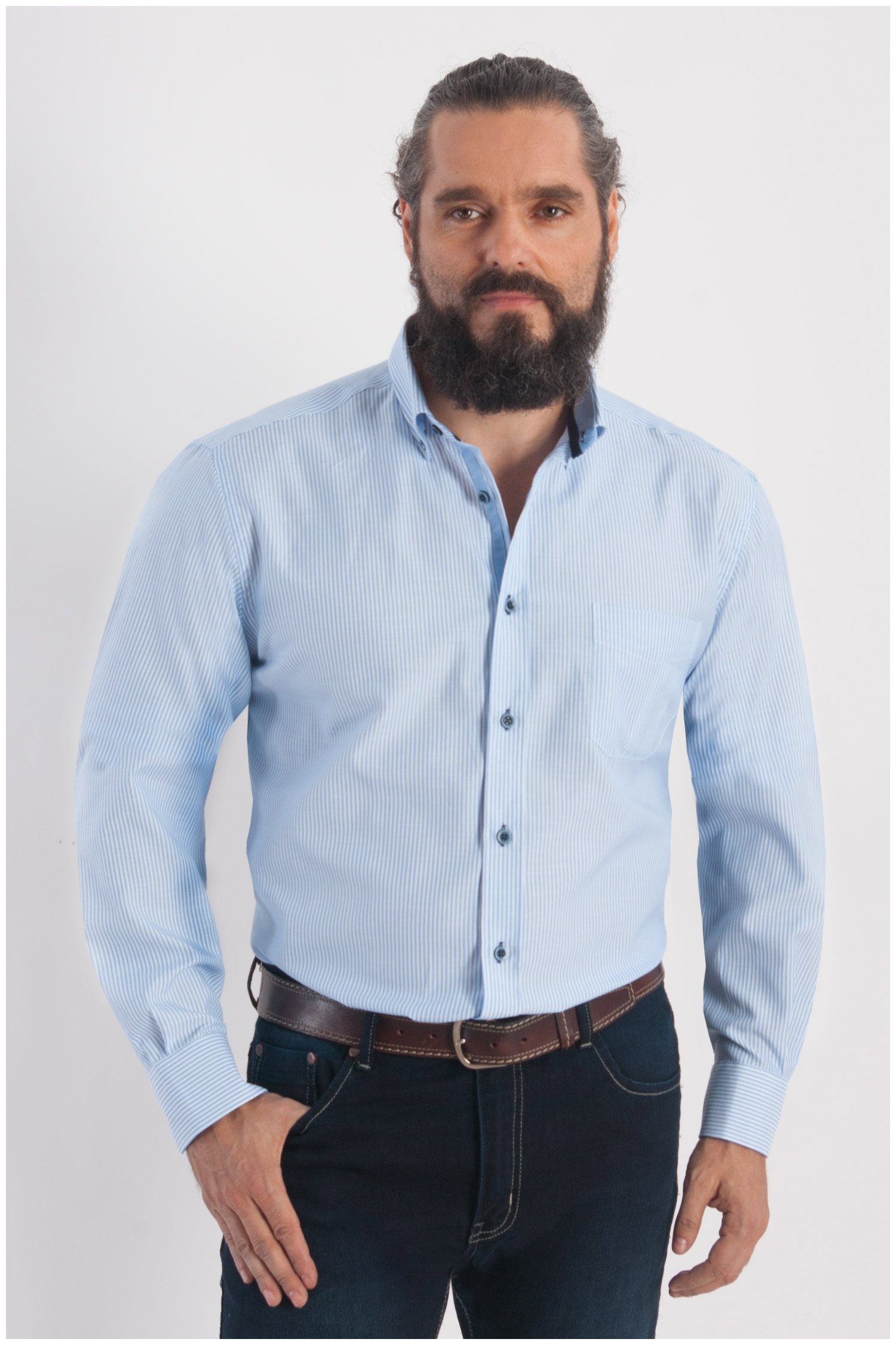 Camisas, Sport Manga Larga, 107795, MARINO | Zoom