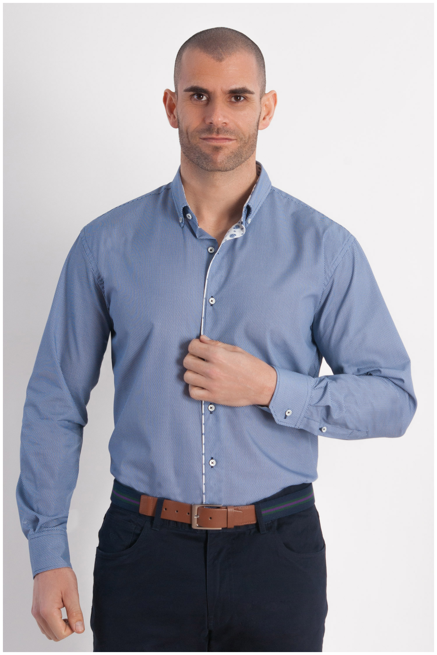 Camisas, Sport Manga Larga, 107816, MARINO | Zoom