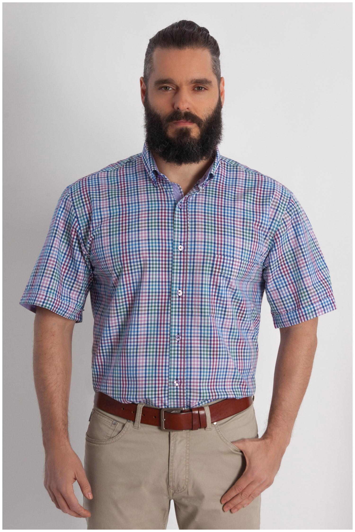 Camisas, Sport Manga Corta, 107819, MORADO | Zoom