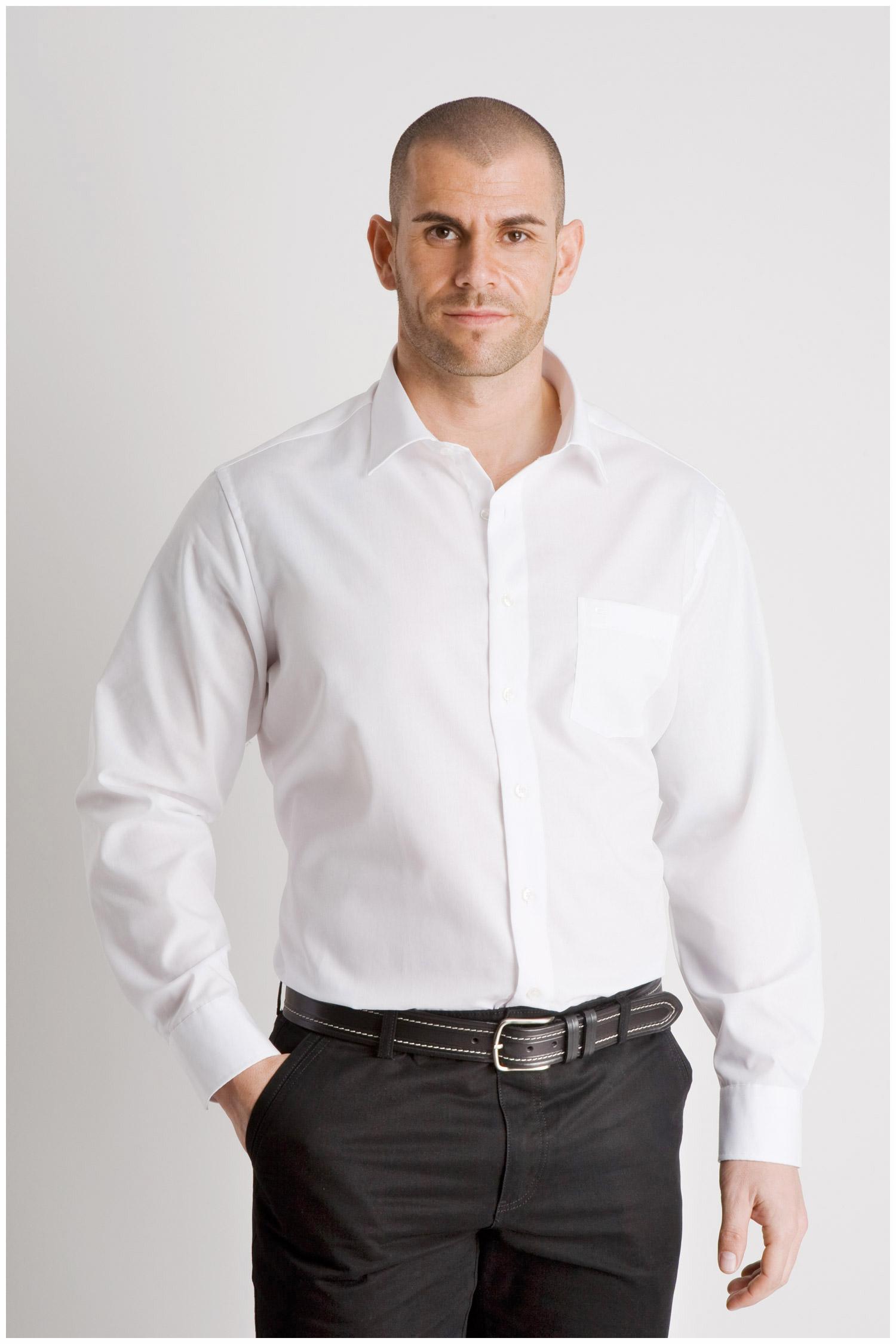 Camisas, Vestir Manga Larga, 107852, BLANCO | Zoom