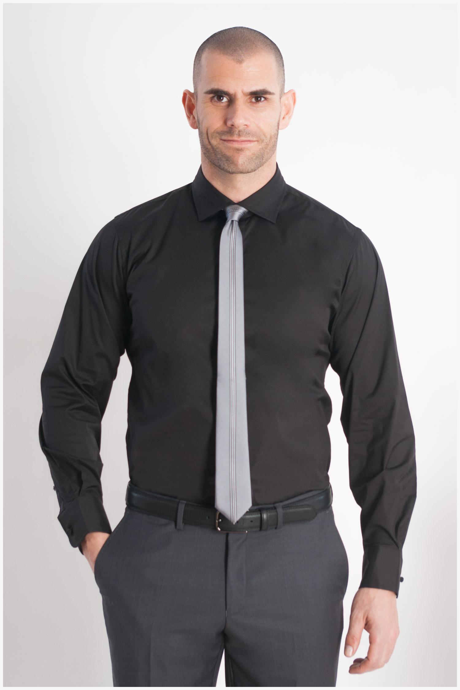 Camisas, Vestir Manga Larga, 107892, NEGRO | Zoom