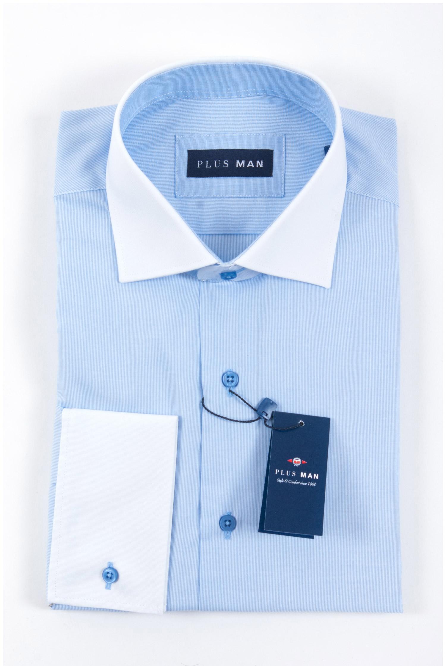 Camisas, Vestir Manga Larga, 107968, CELESTE | Zoom