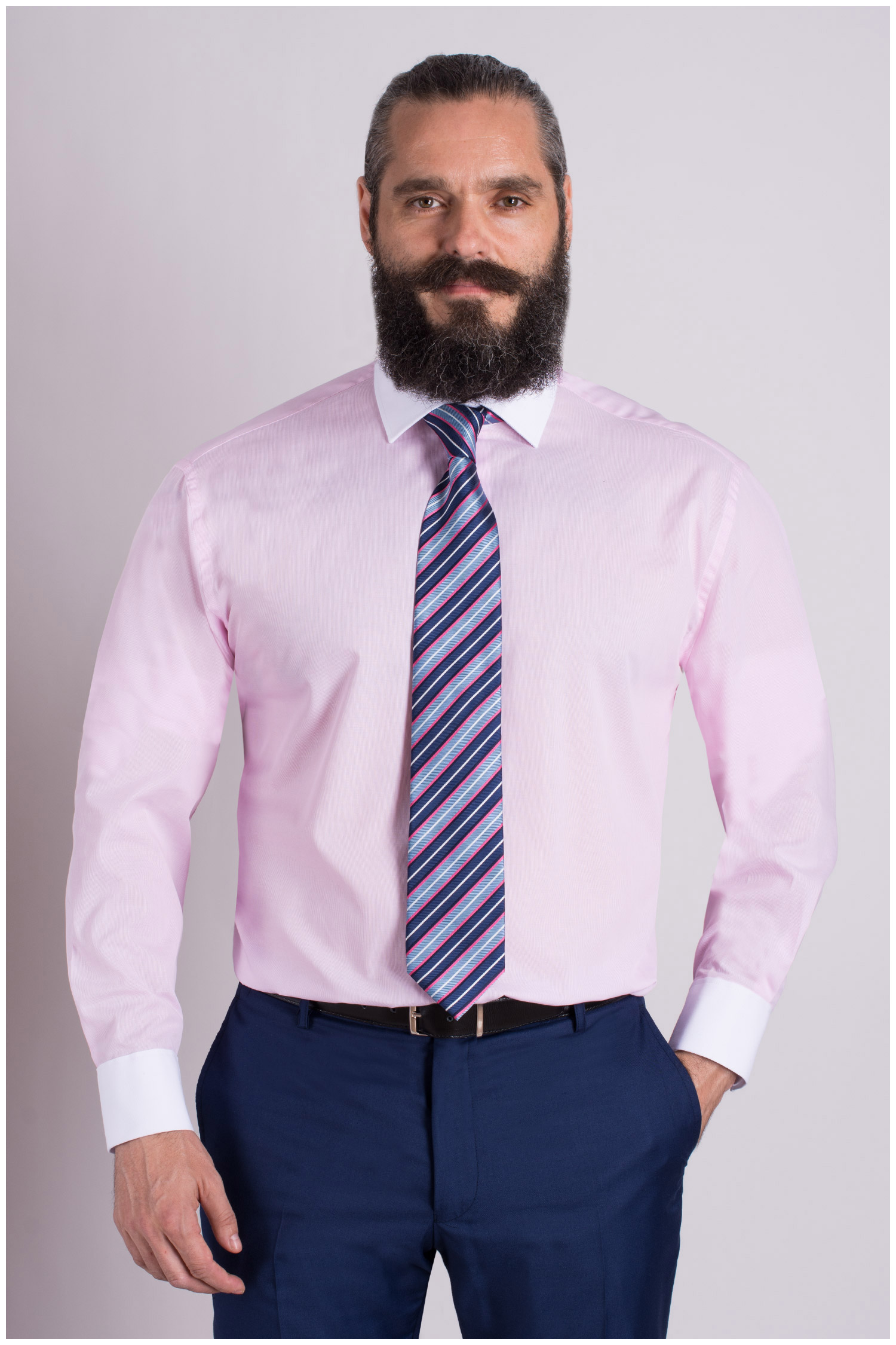 Camisas, Vestir Manga Larga, 107968, ROSA | Zoom