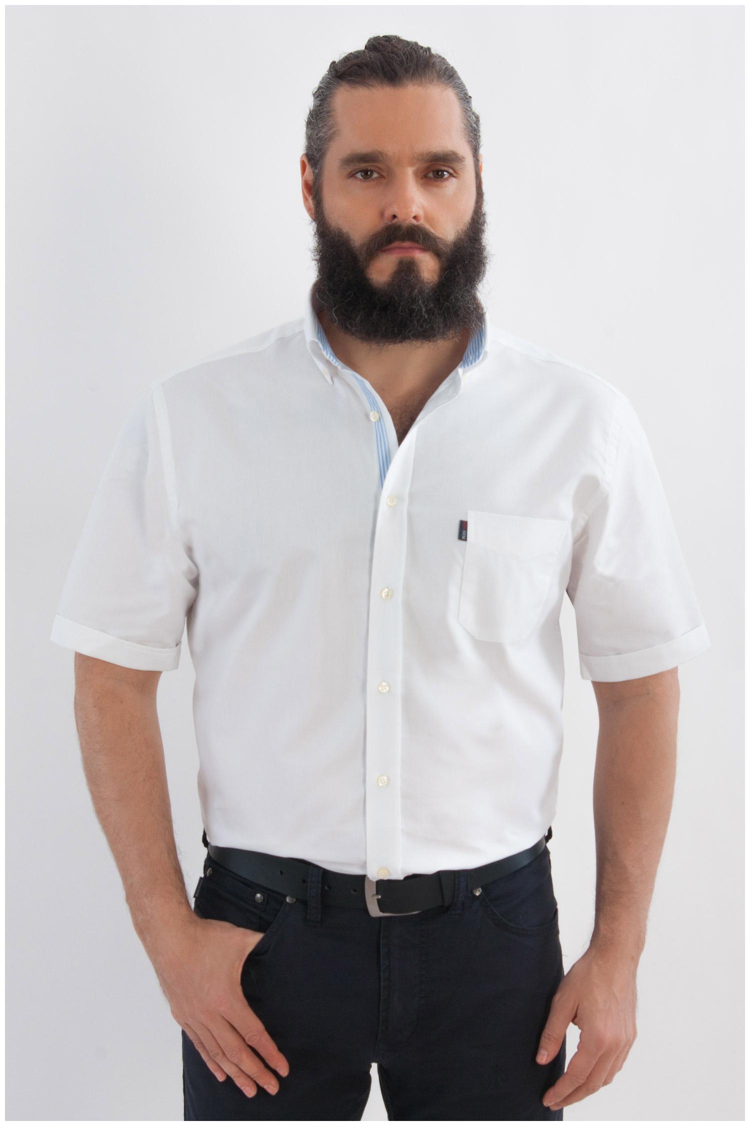 Camisas, Sport Manga Corta, 107971, BLANCO | Zoom