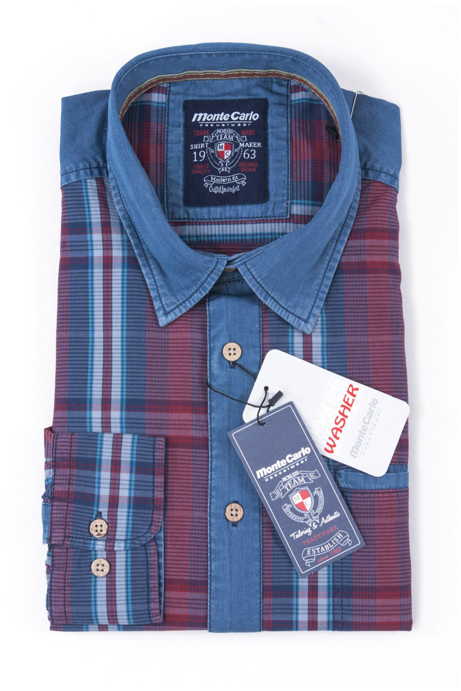 Camisas, Sport Manga Larga, 108241, GRANATE | Zoom