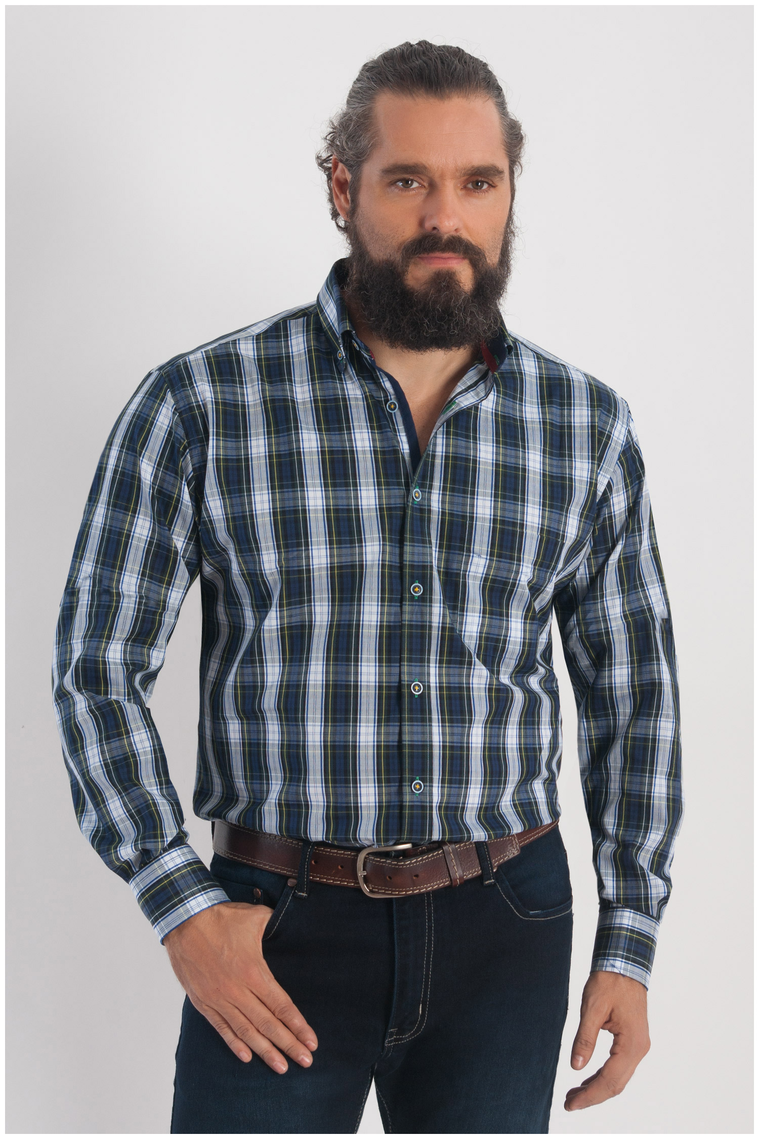 Camisas, Sport Manga Larga, 108243, VERDE | Zoom