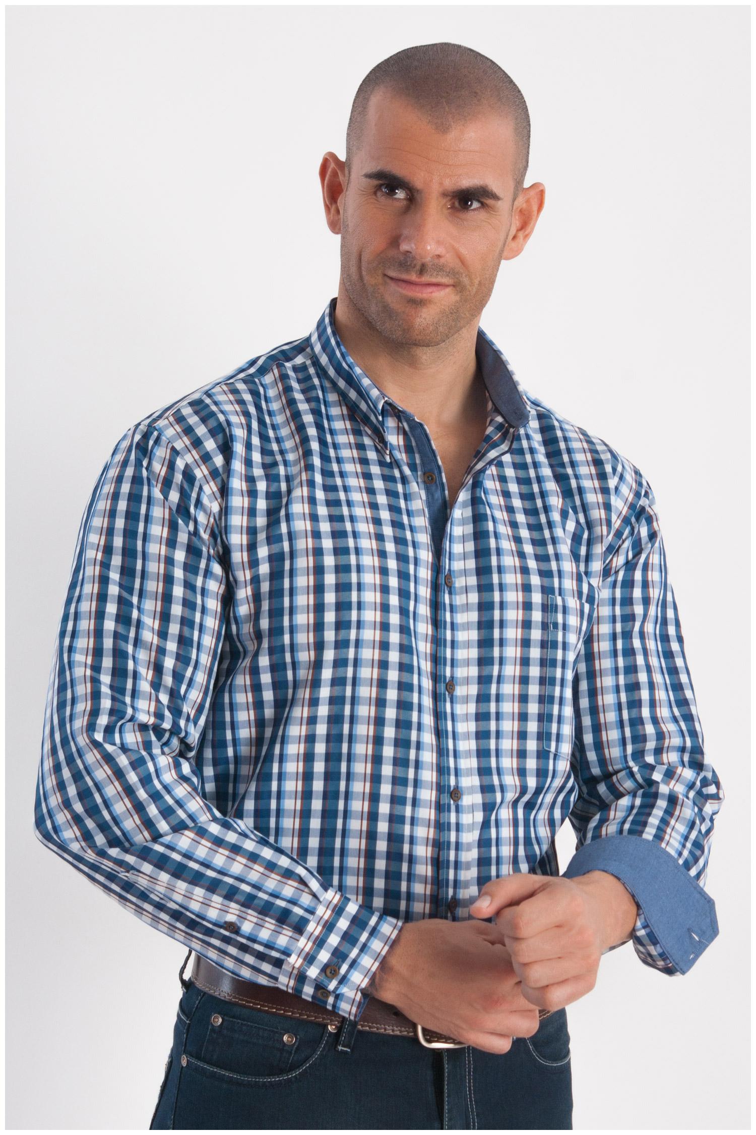 Camisas, Sport Manga Larga, 108288, MARINO | Zoom
