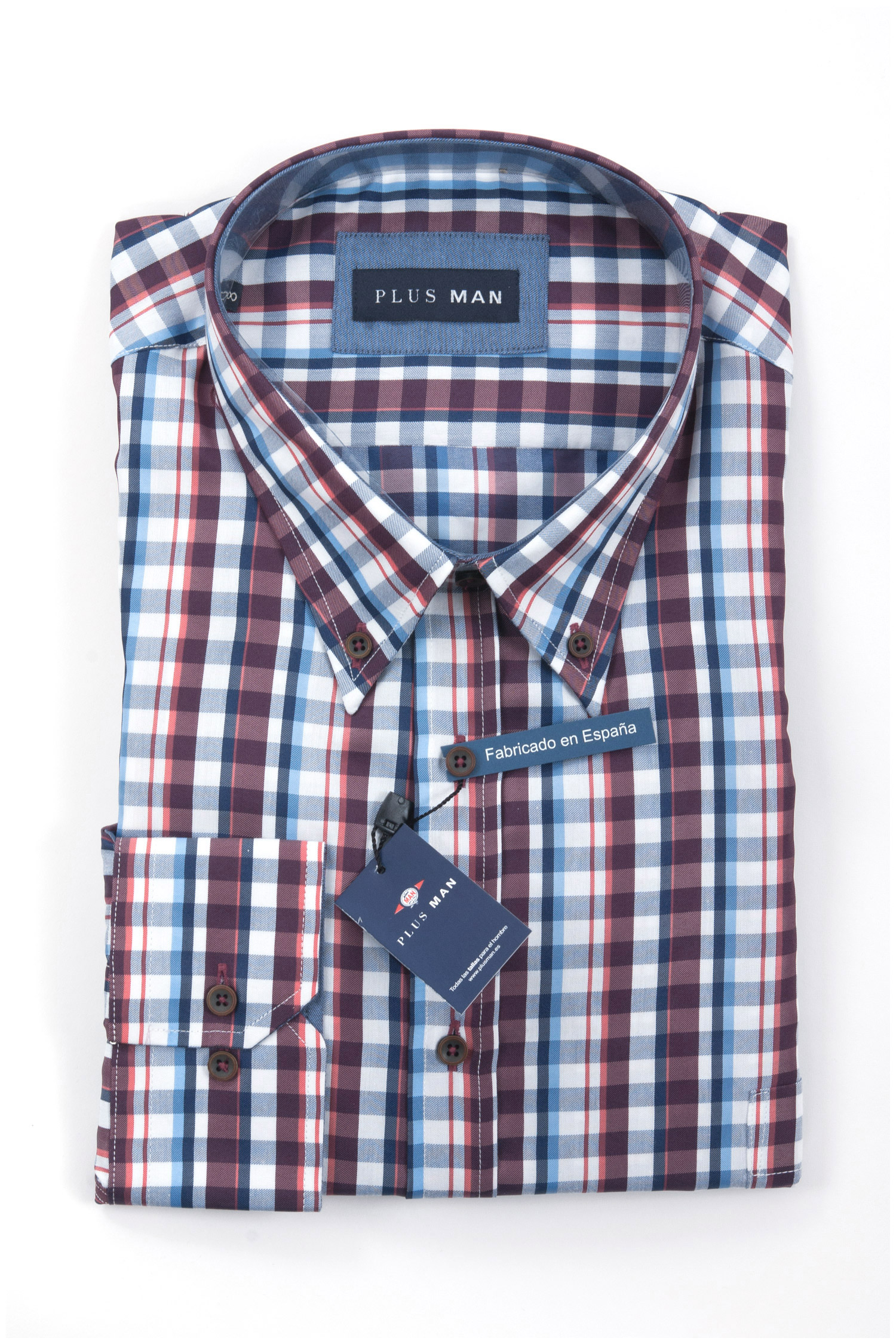 Camisas, Sport Manga Larga, 108288, GRANATE | Zoom