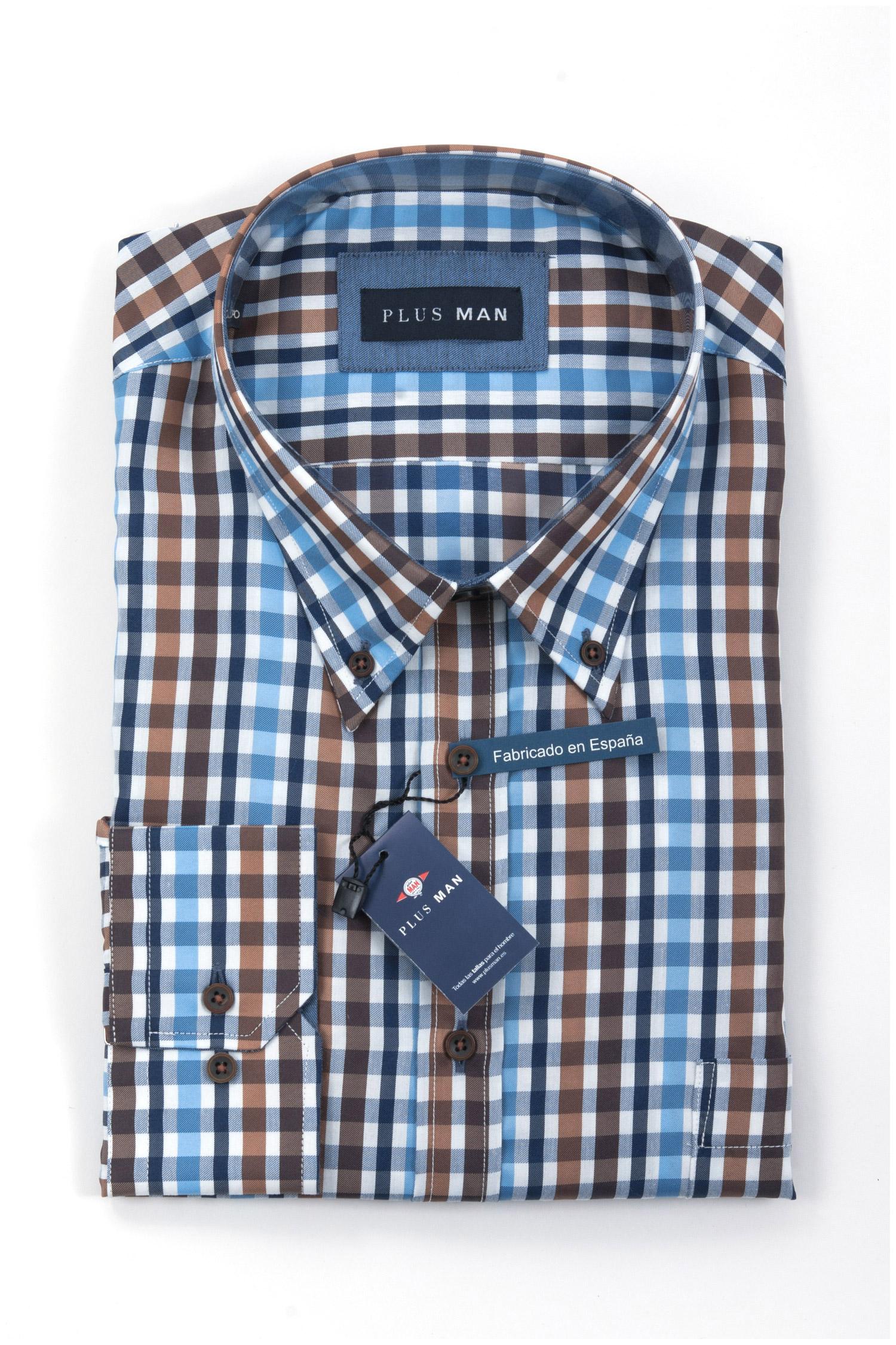 Camisas, Sport Manga Larga, 108289, MARRON | Zoom