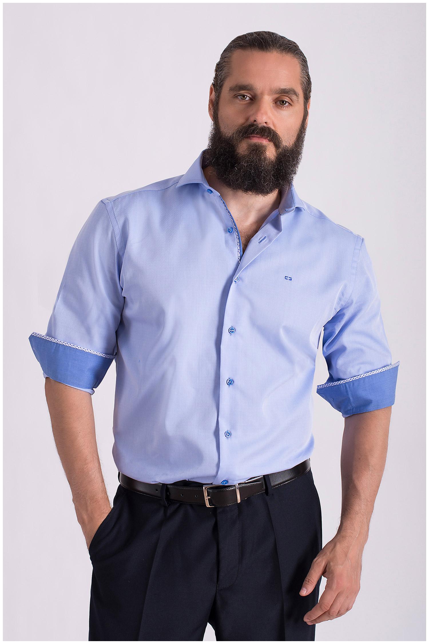 Camisas, Vestir Manga Larga, 108354, CELESTE | Zoom