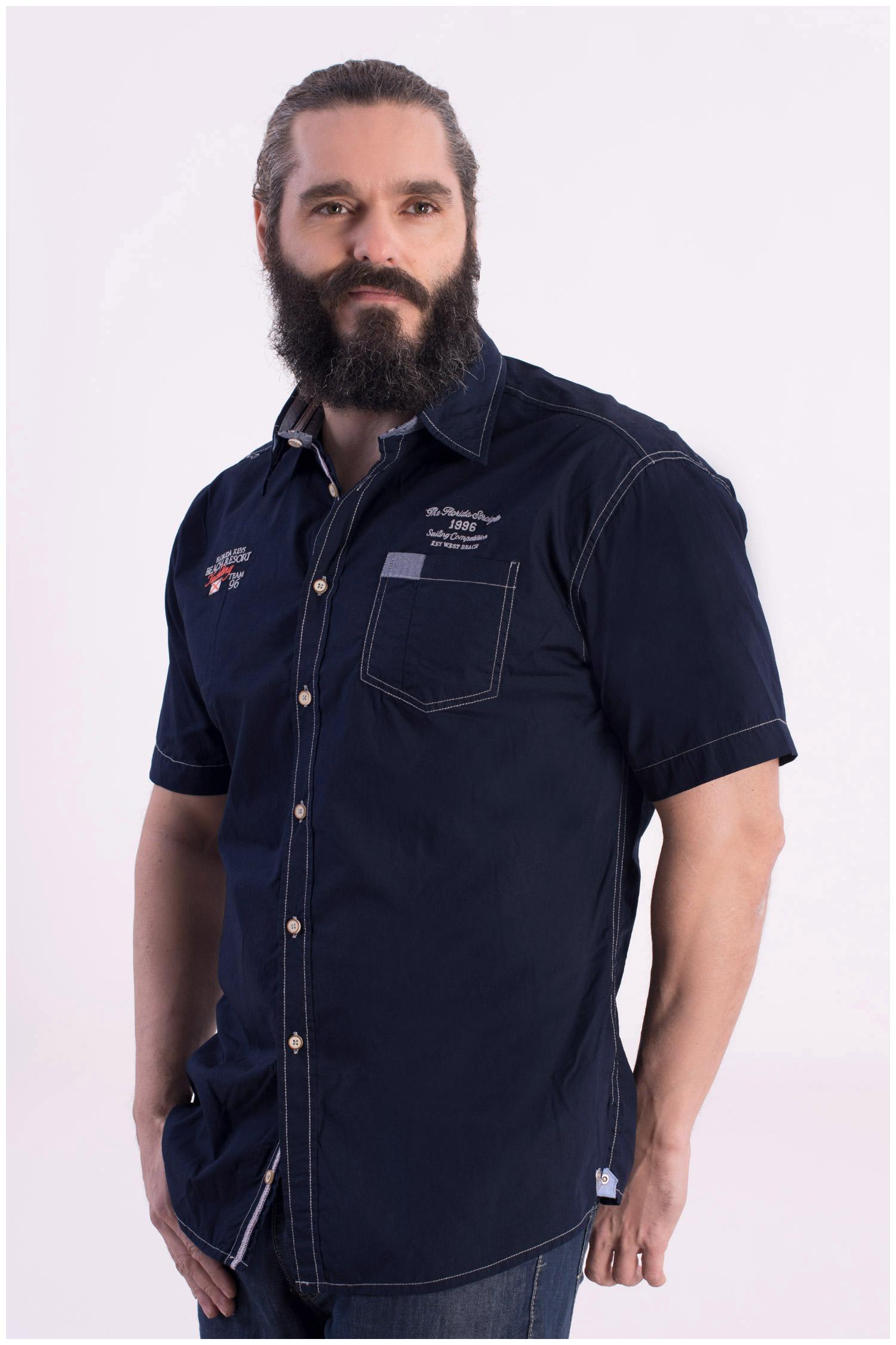 Camisas, Sport Manga Corta, 108415, MARINO | Zoom
