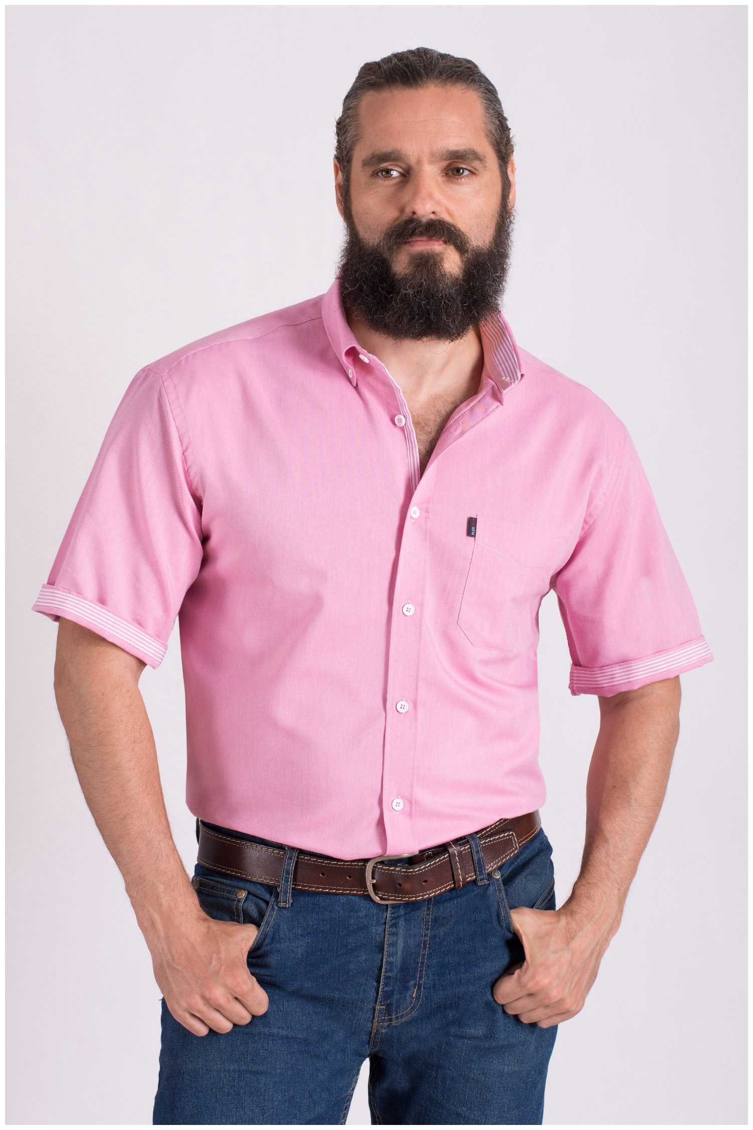 Camisas, Sport Manga Corta, 108428, ROSA | Zoom