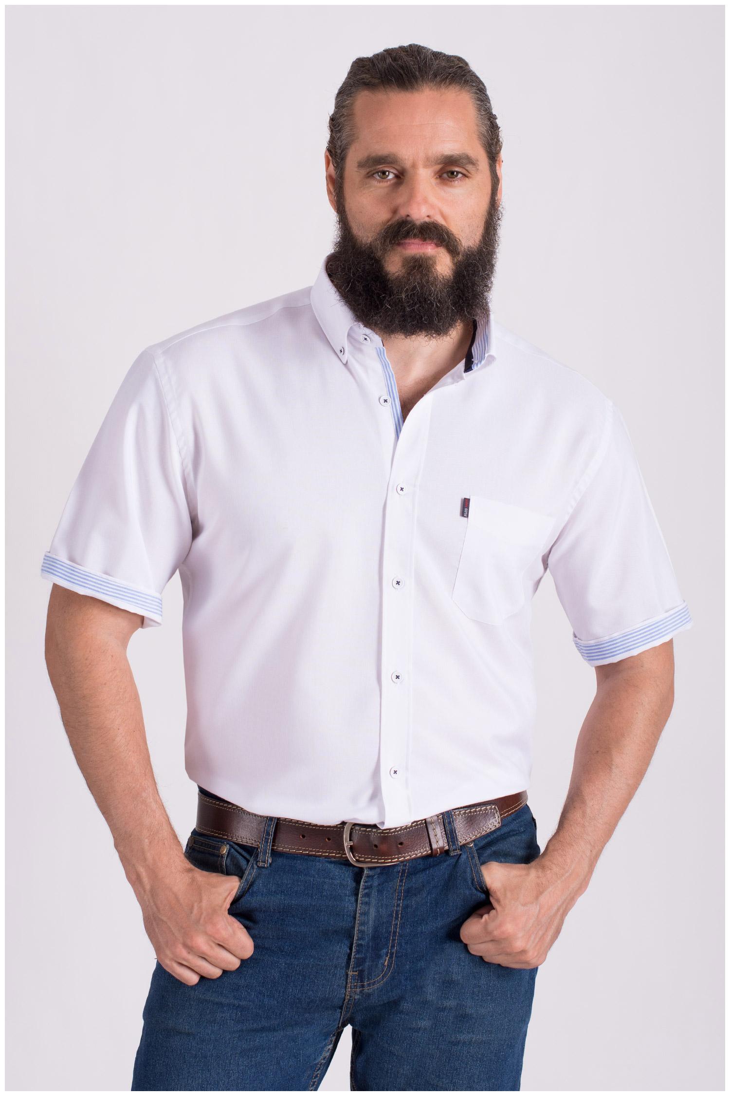 Camisas, Sport Manga Corta, 108428, BLANCO   Zoom