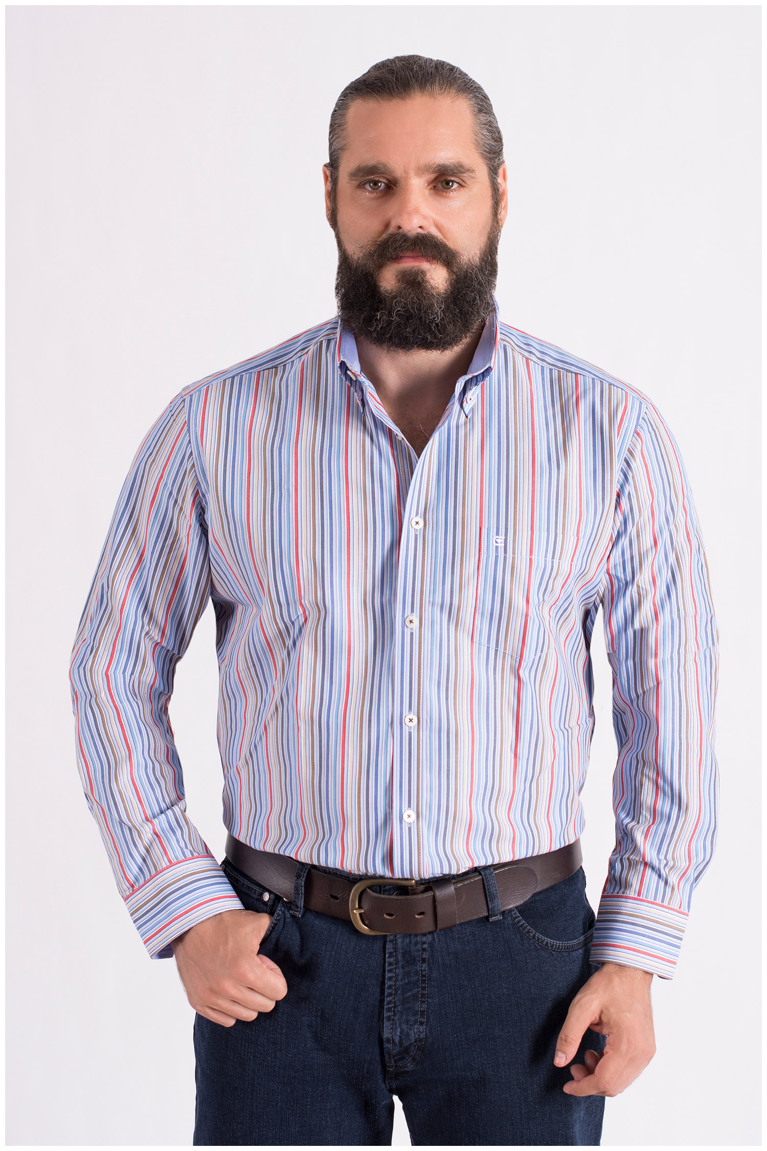 Camisas, Sport Manga Larga, 108490, MARINO | Zoom