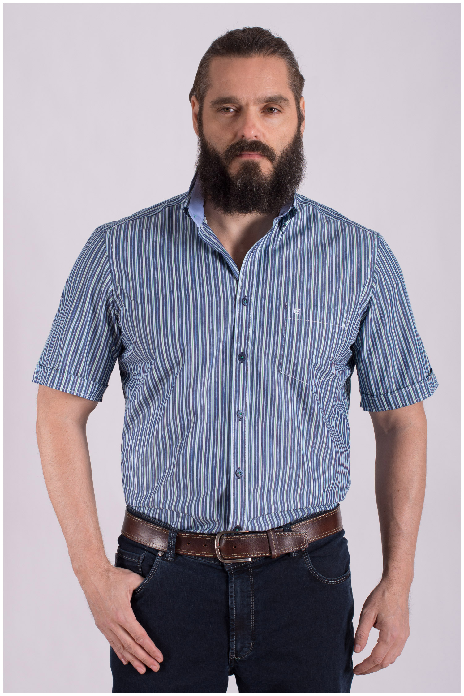 Camisas, Sport Manga Corta, 108491, VERDE   Zoom