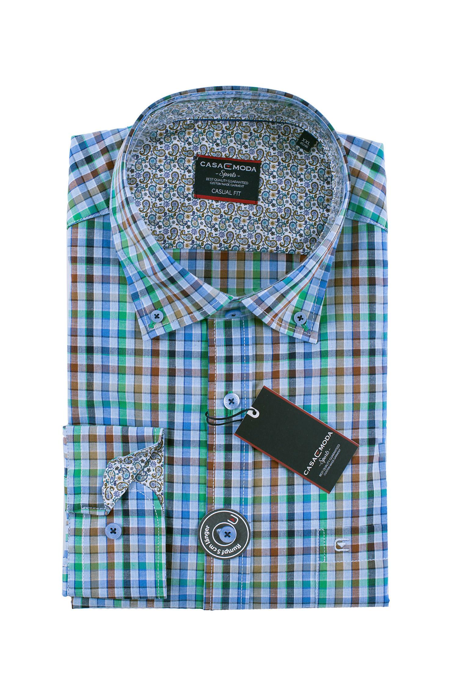 Camisas, Sport Manga Larga, 108496, VERDE | Zoom