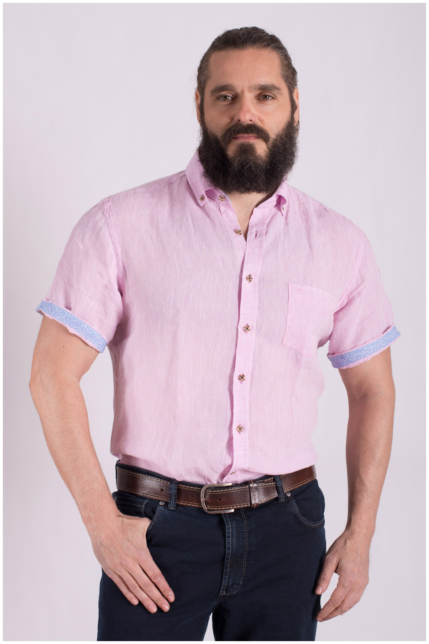 Camisas, Sport Manga Corta, 108502, ROSA | Zoom