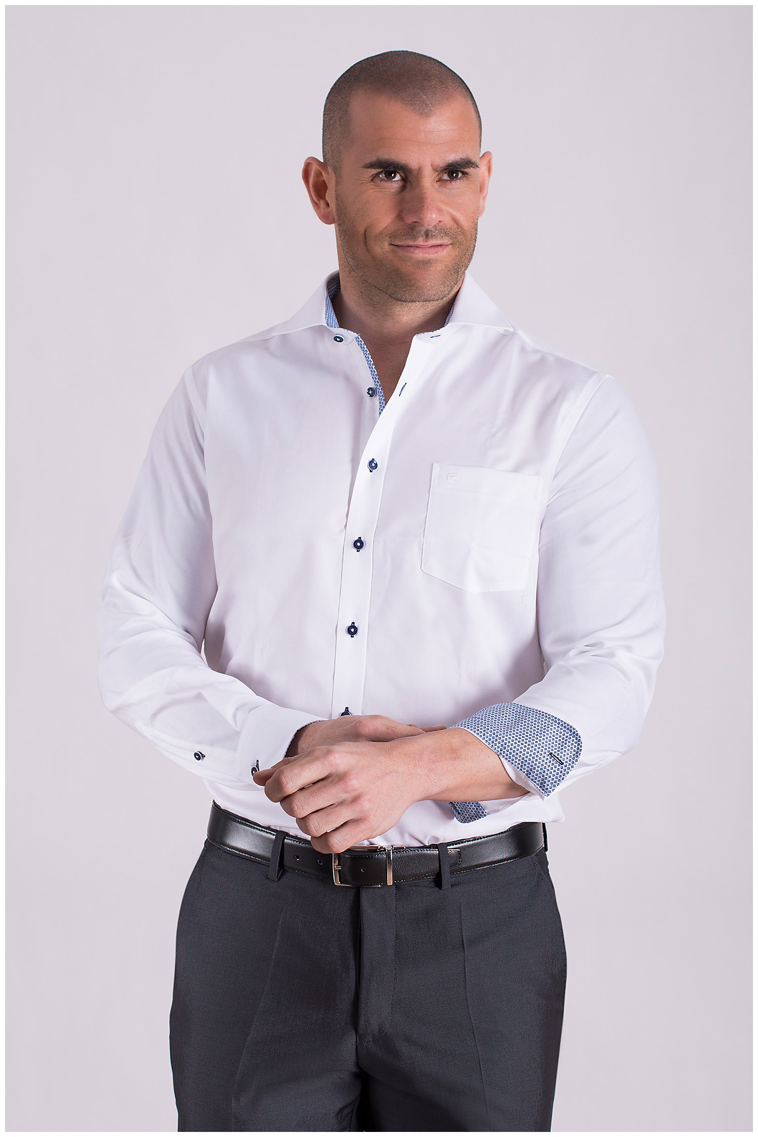 Camisas, Vestir Manga Larga, 108504, BLANCO | Zoom
