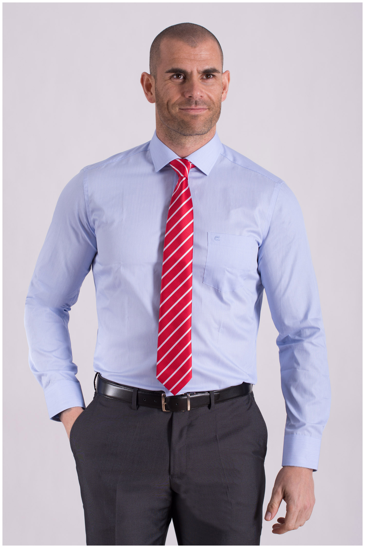 Camisas, Vestir Manga Larga, 108506, CELESTE   Zoom