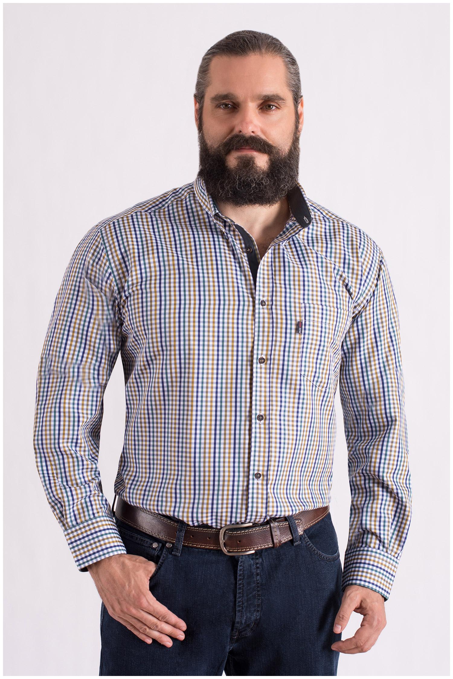 Camisas, Sport Manga Larga, 108553, BEIGE   Zoom