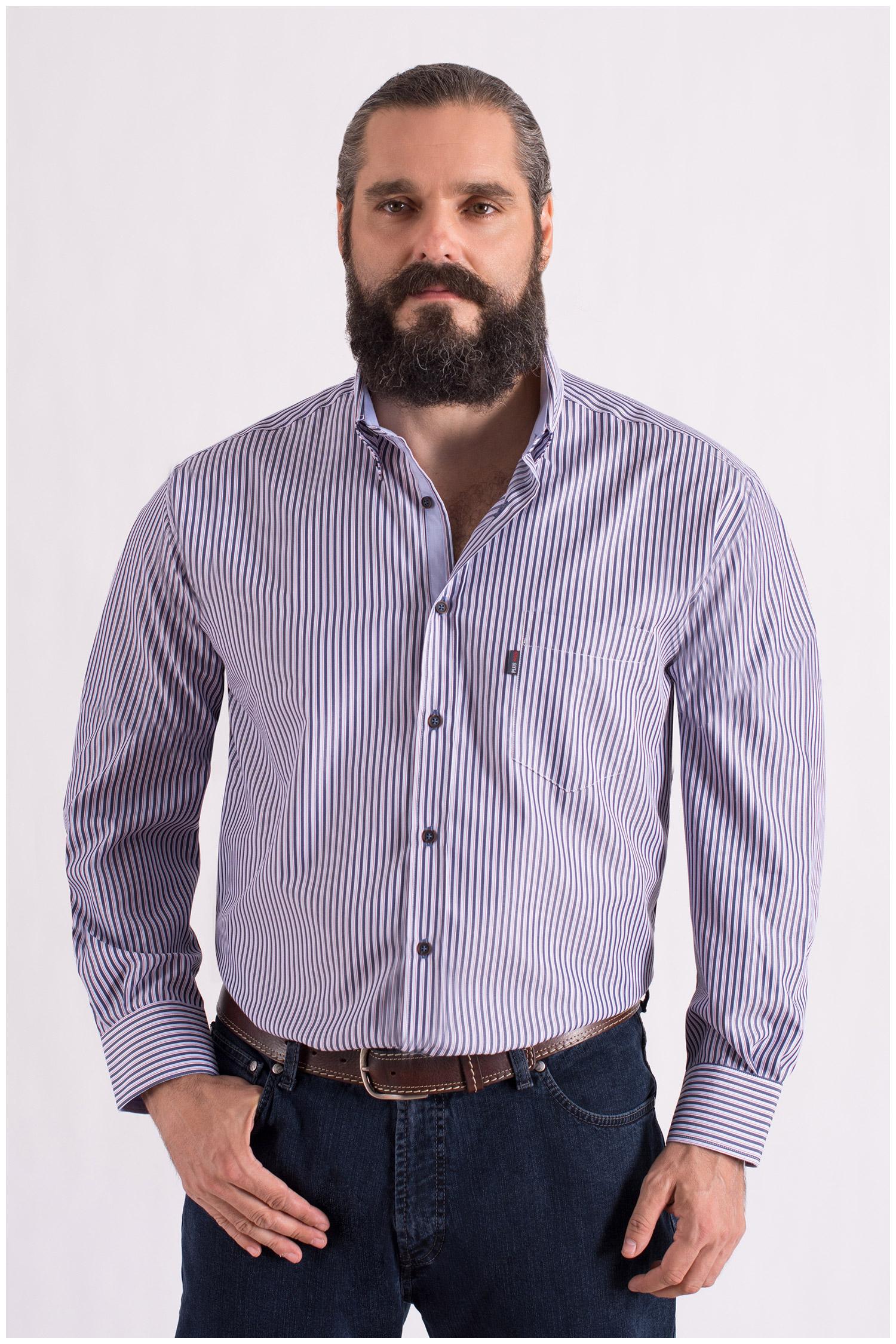 Camisas, Sport Manga Larga, 108554, MARINO | Zoom