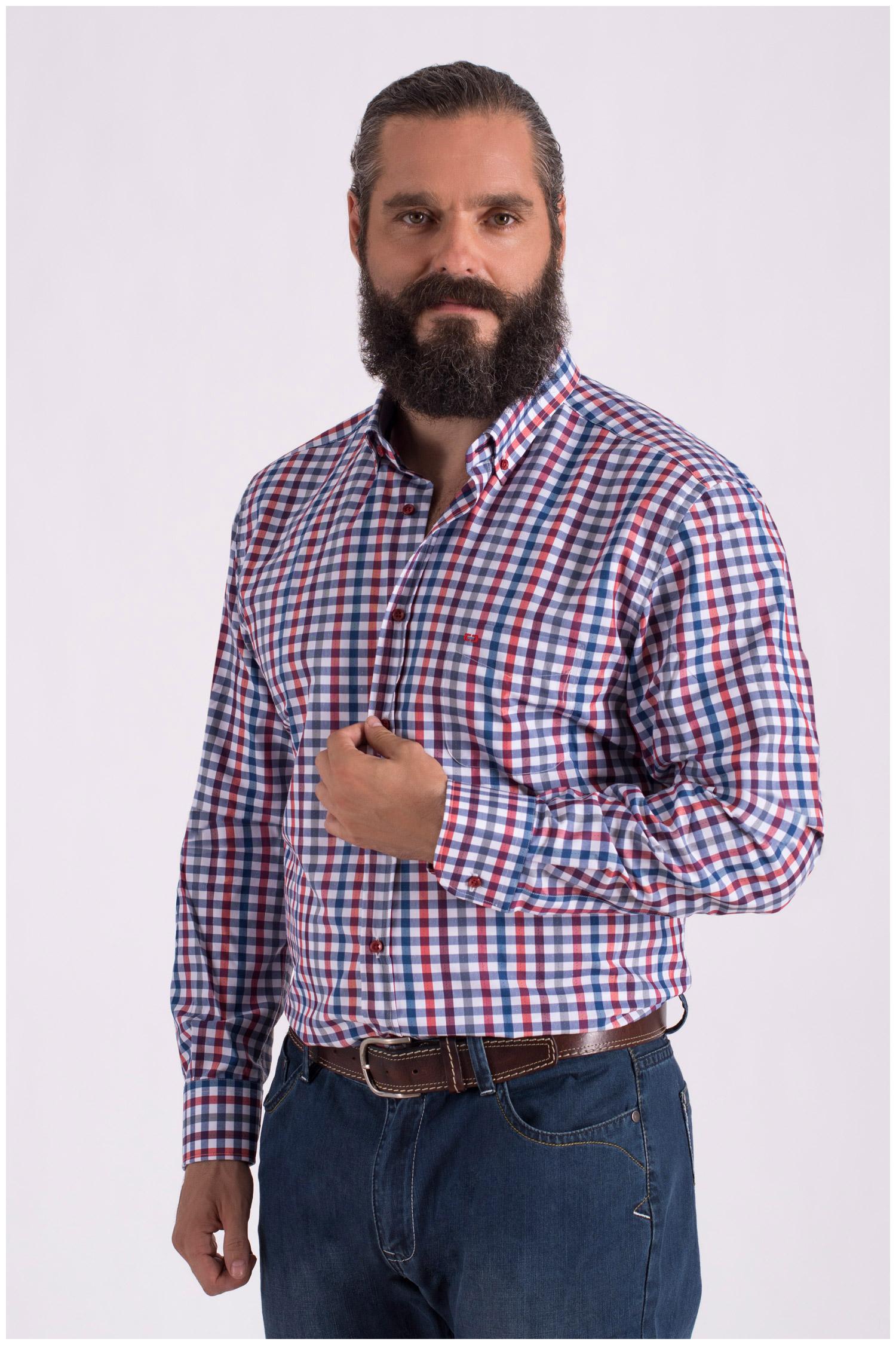 Camisas, Sport Manga Larga, 108559, GRANATE | Zoom