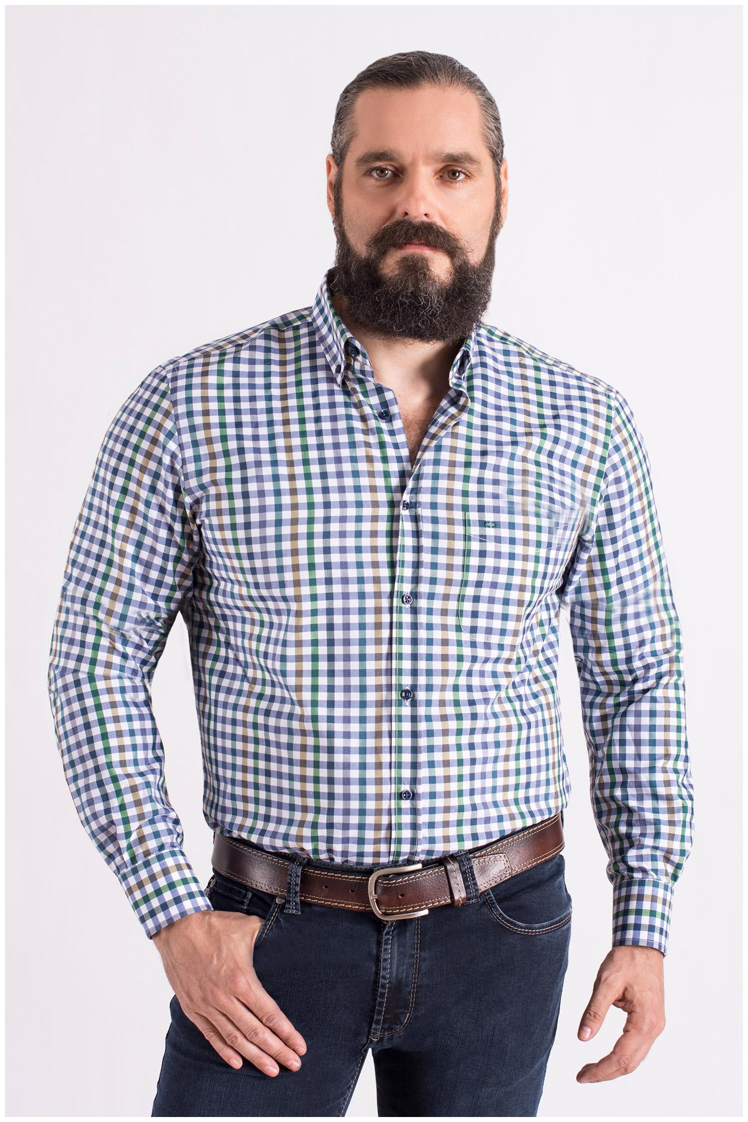 Camisas, Sport Manga Larga, 108559, VERDE | Zoom