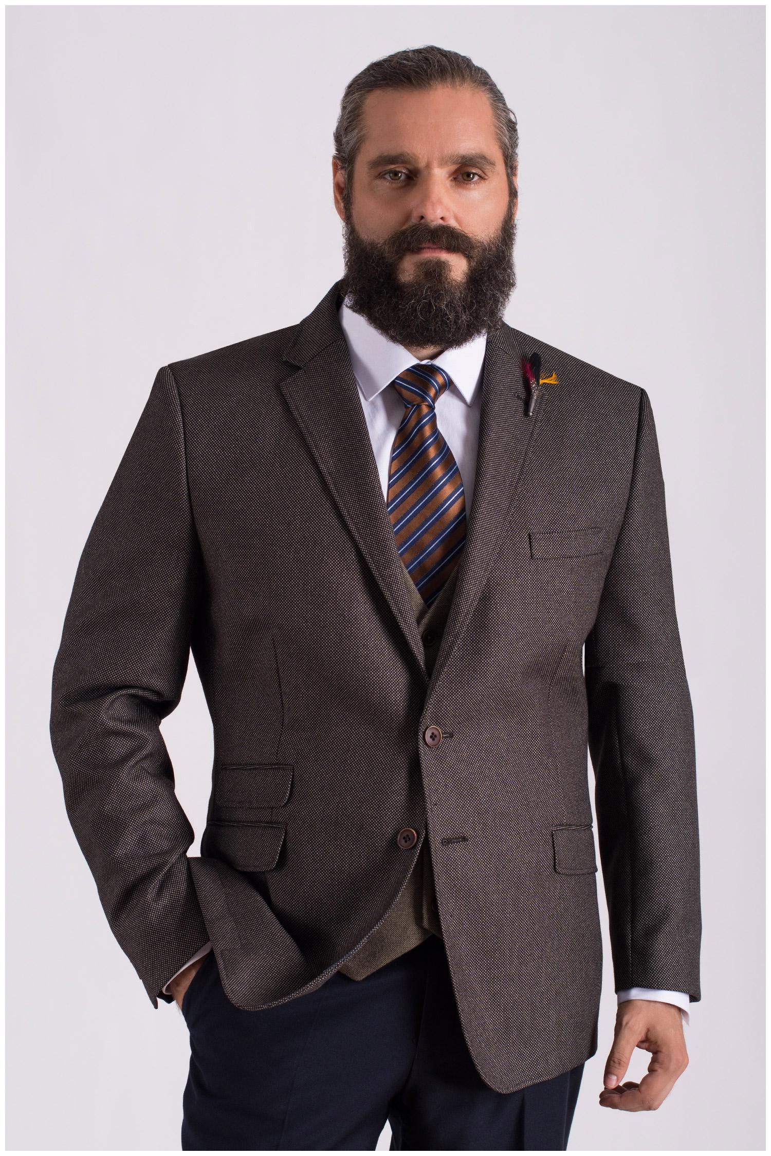 Sastrería, Americana Vestir, 108618, MARRON | Zoom