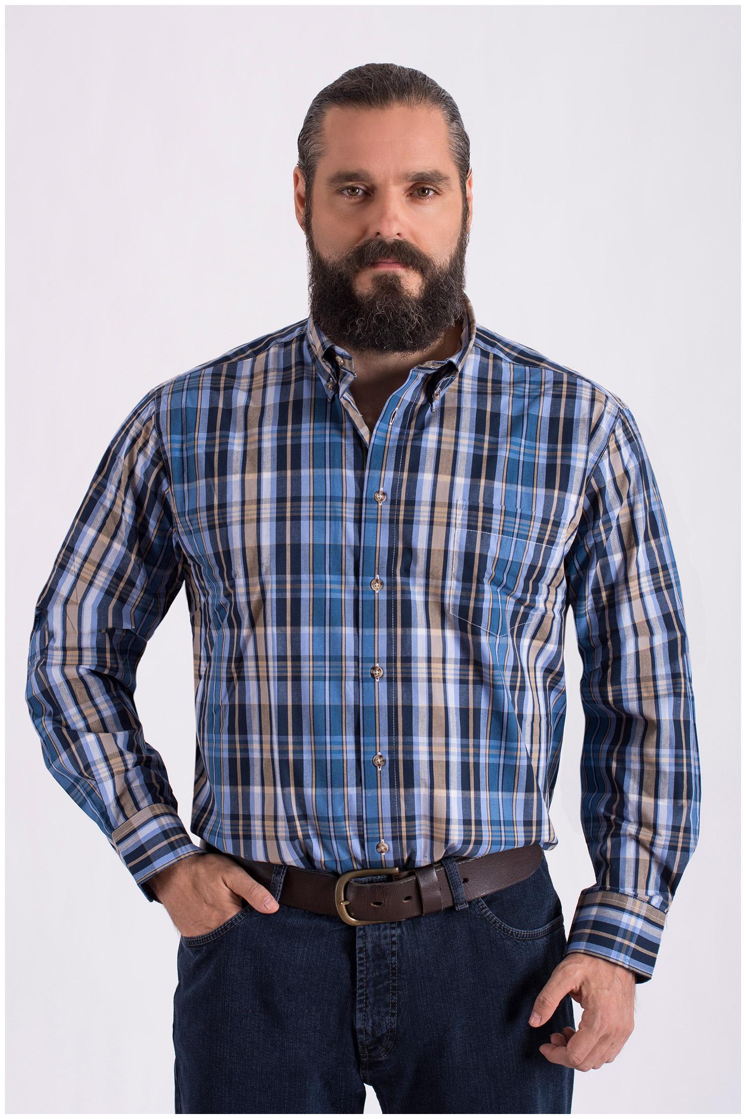 Camisas, Sport Manga Larga, 108634, AZUL | Zoom