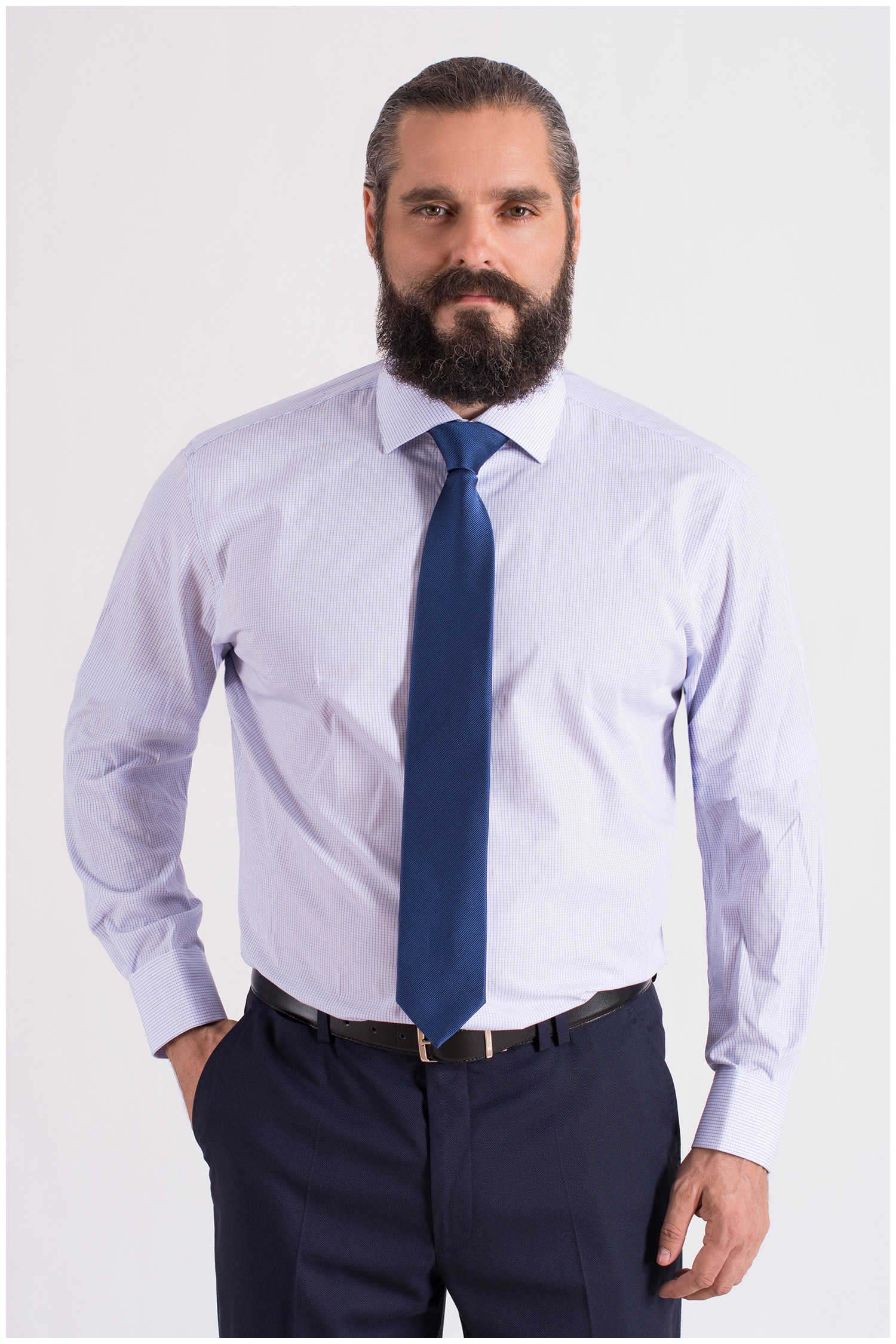 Camisas, Vestir Manga Larga, 108662, CELESTE | Zoom