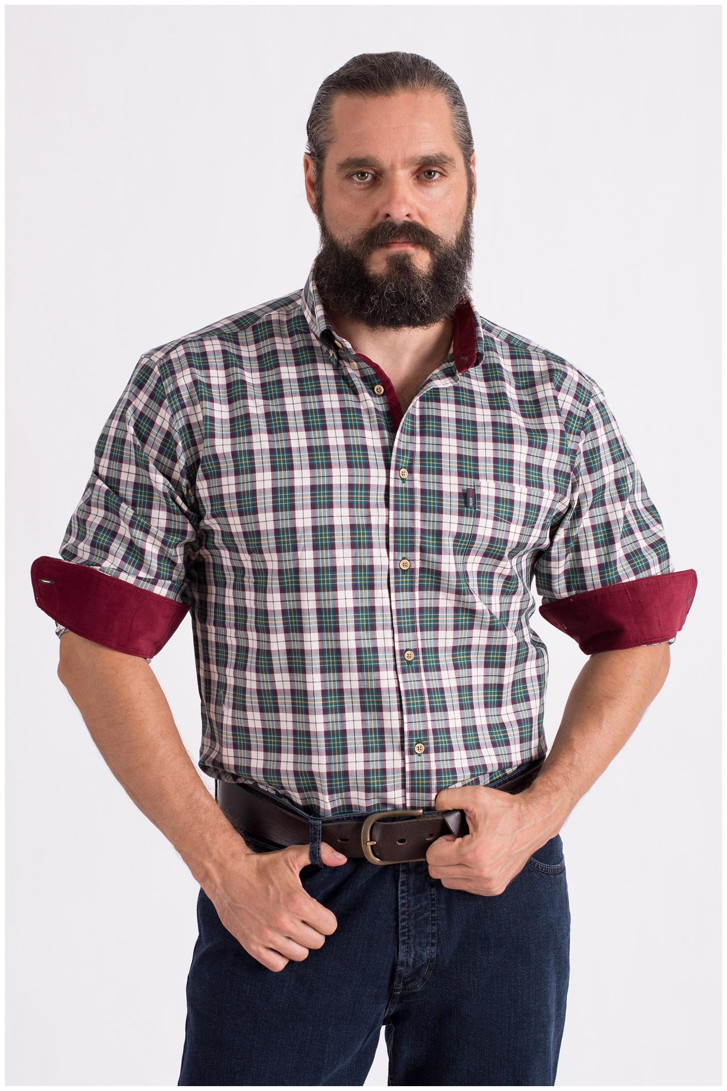 Camisas, Sport Manga Larga, 108668, VERDE | Zoom