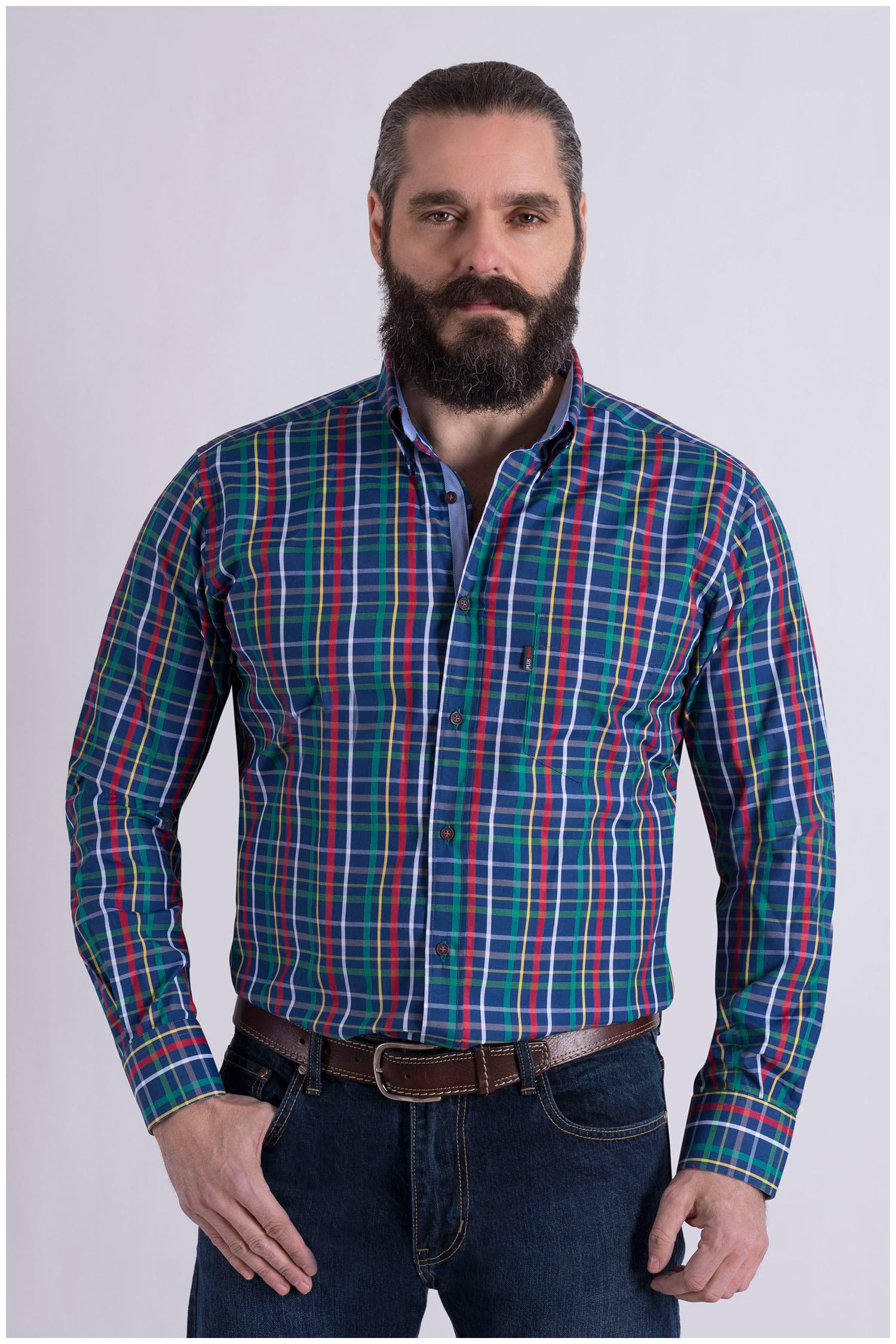 Camisas, Sport Manga Larga, 108992, MARINO | Zoom