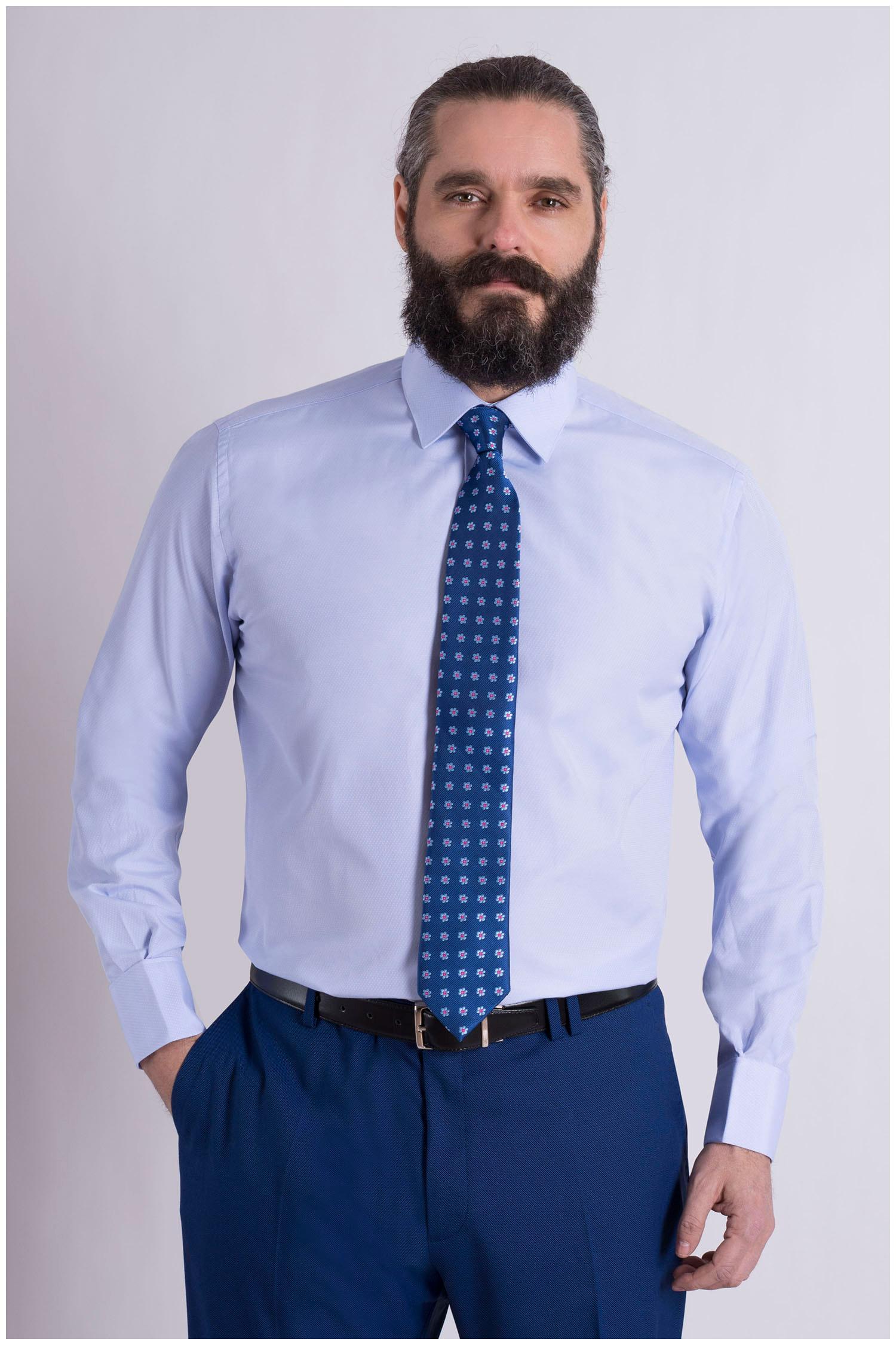 Camisas, Vestir Manga Larga, 108993, CELESTE | Zoom