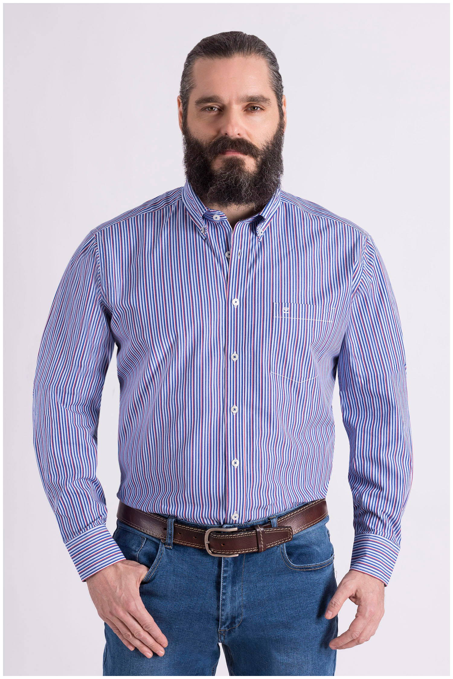 Camisas, Sport Manga Larga, 109079, MARINO | Zoom
